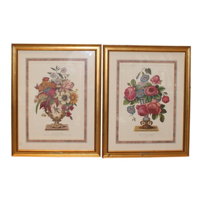 Two Jean Louis Prevost Floral Prints