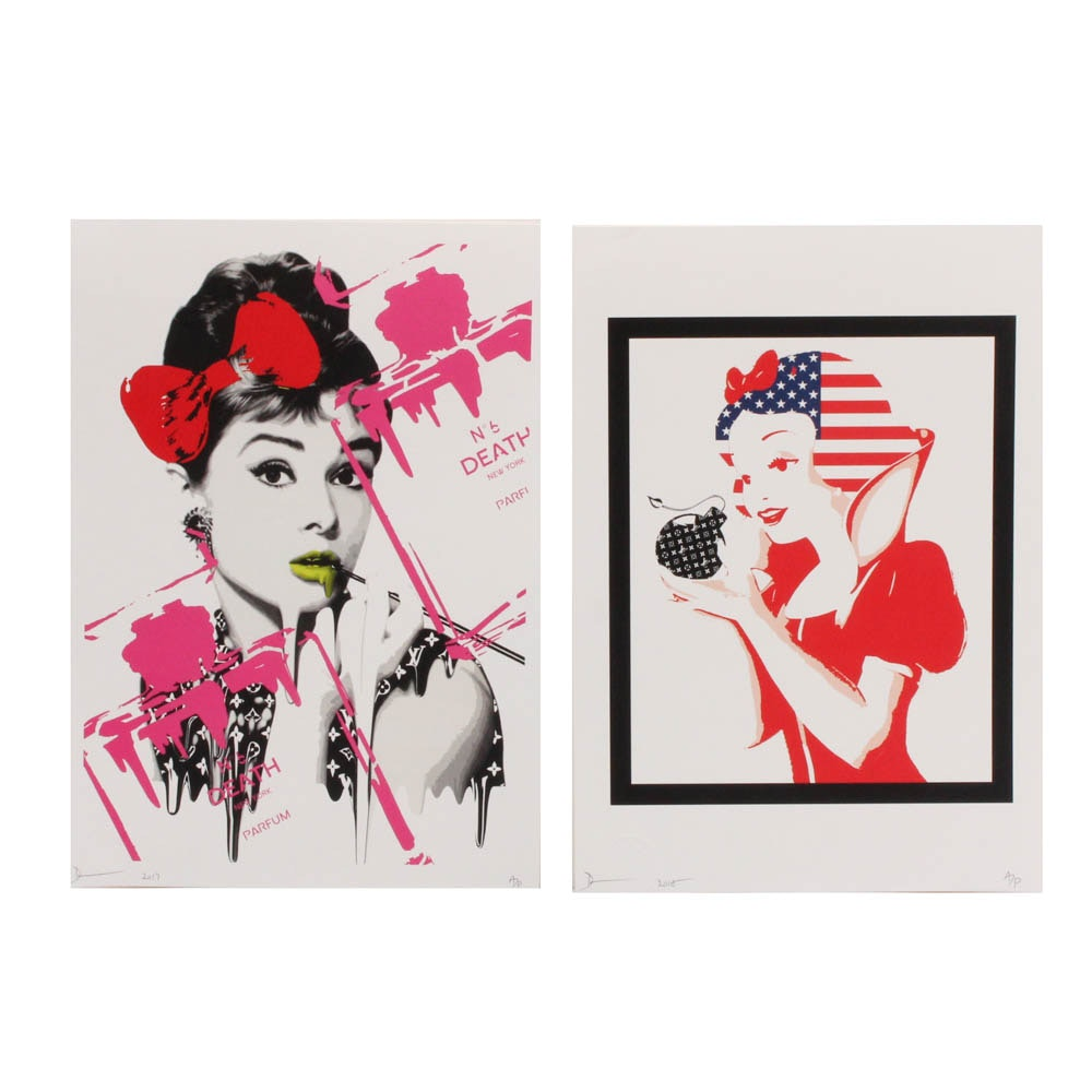 Two Death NYC Artist Proof Graphic Illustrations