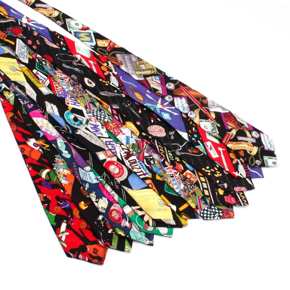 Nicole Miller Multicolor Silk Neckties