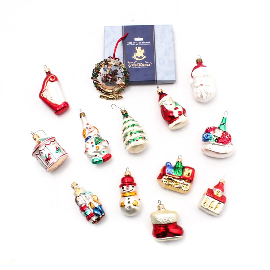 White House and Smithsonian Christmas Ornaments