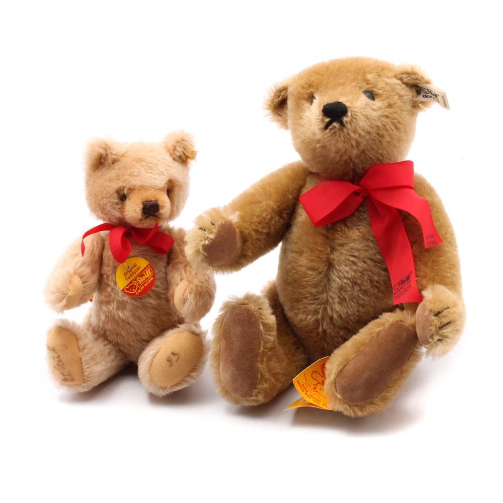 1983 and 1988 Steiff Stuffed Mohair Teddy Bears