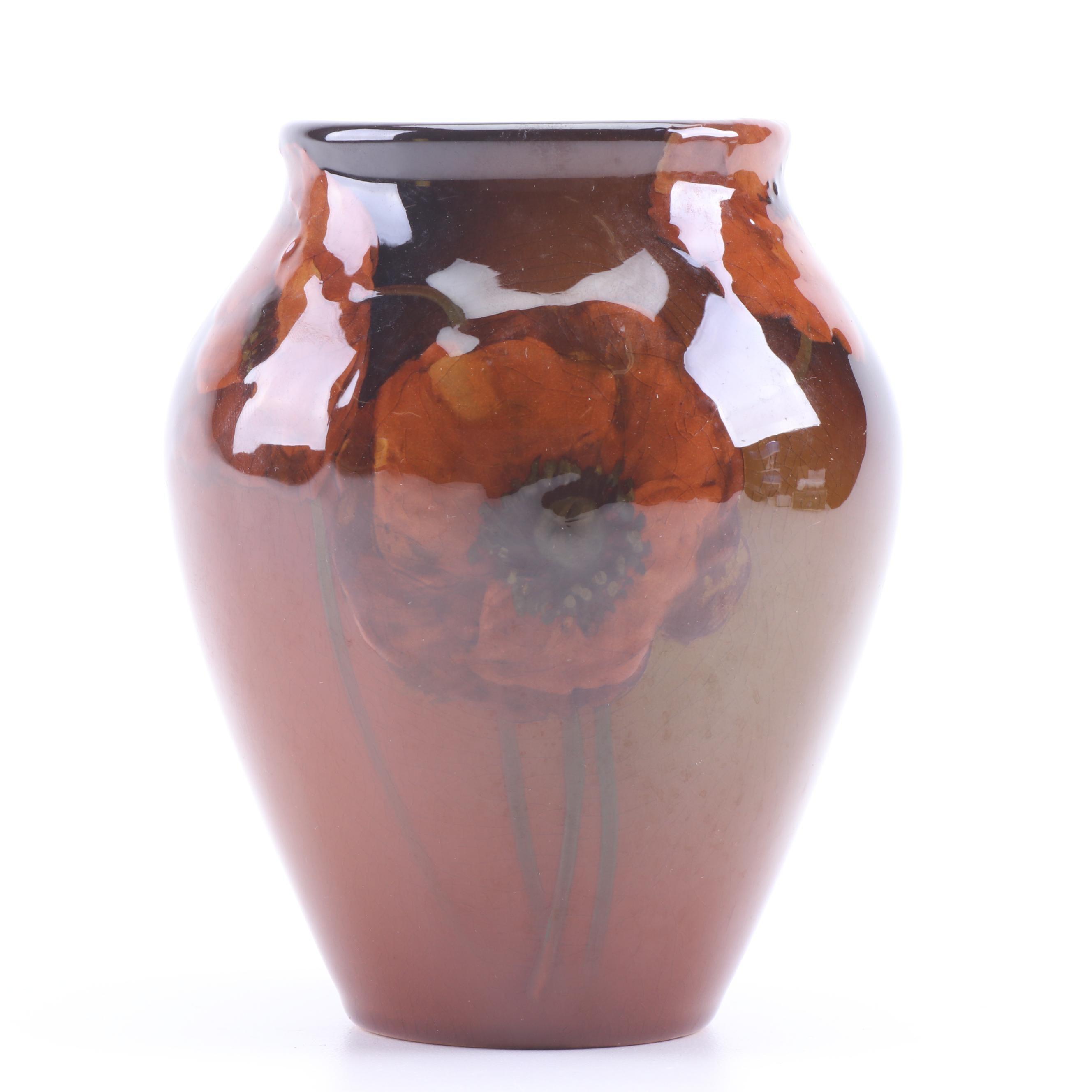 Rookwood Pottery Sallie Toohey Standard Glaze with Poppies Vase, circa 1903