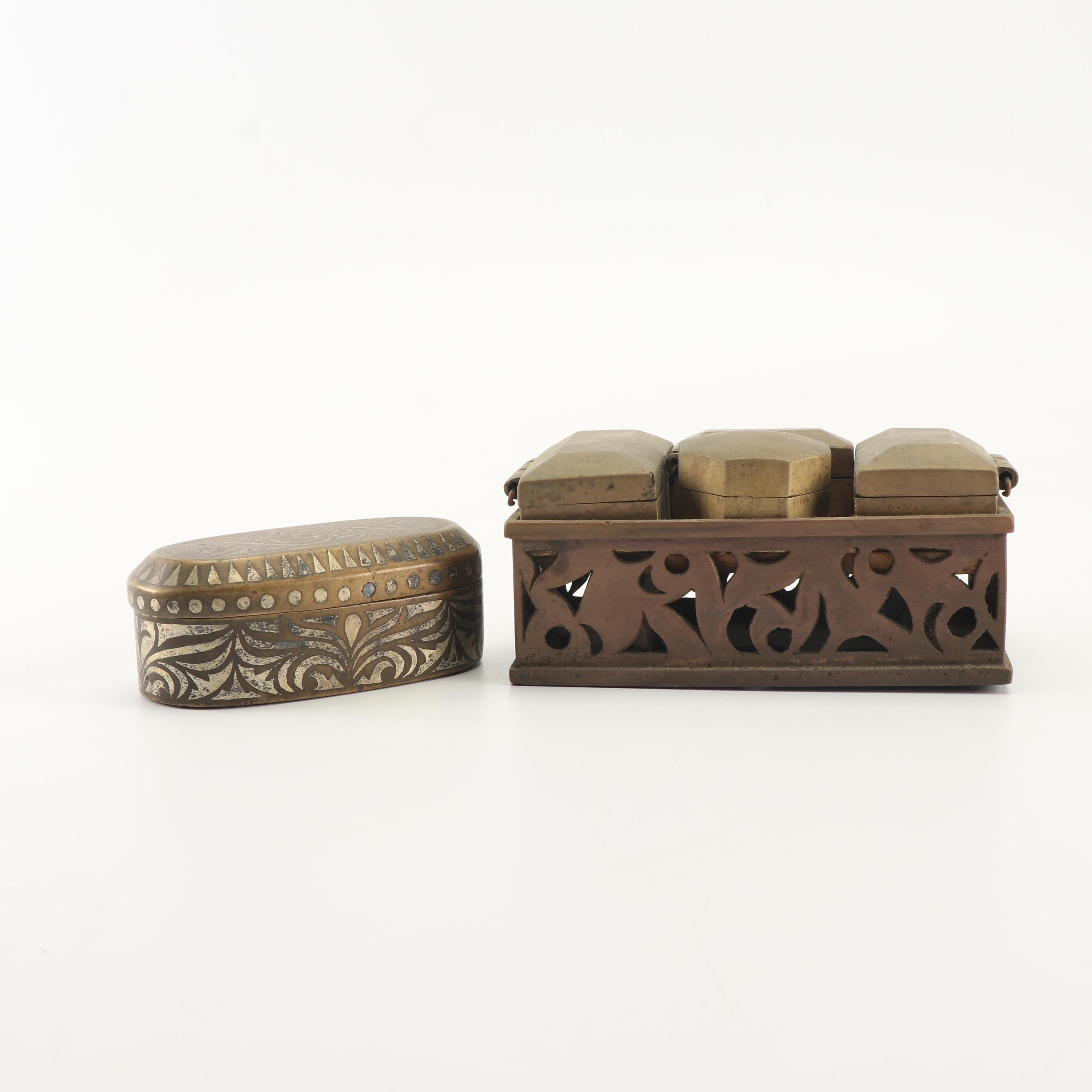 West Asian Style Betel Nut Boxes