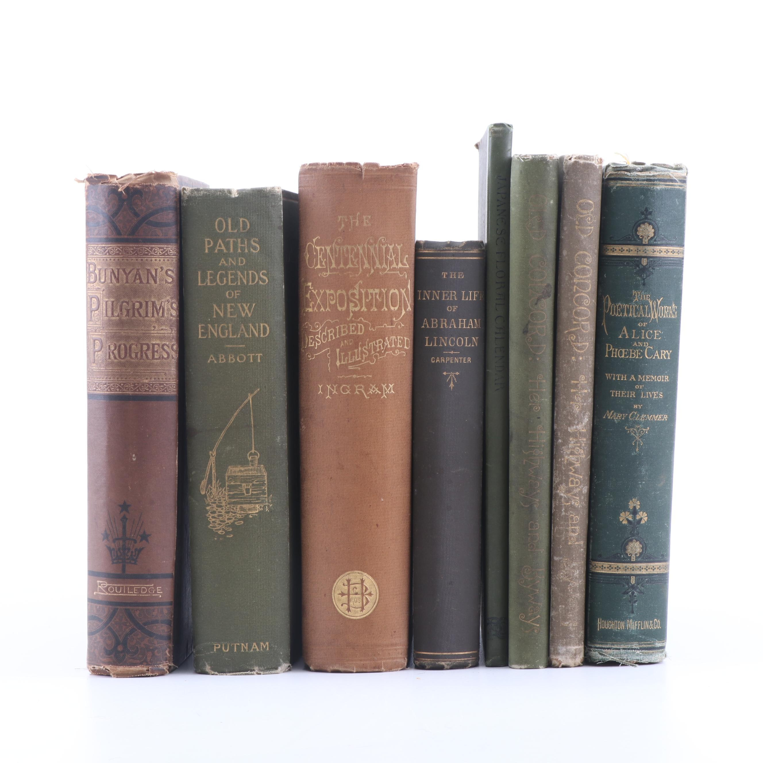 "1903 ""Old Paths and Legends of New England"" and Other Antique Nonfiction Books"