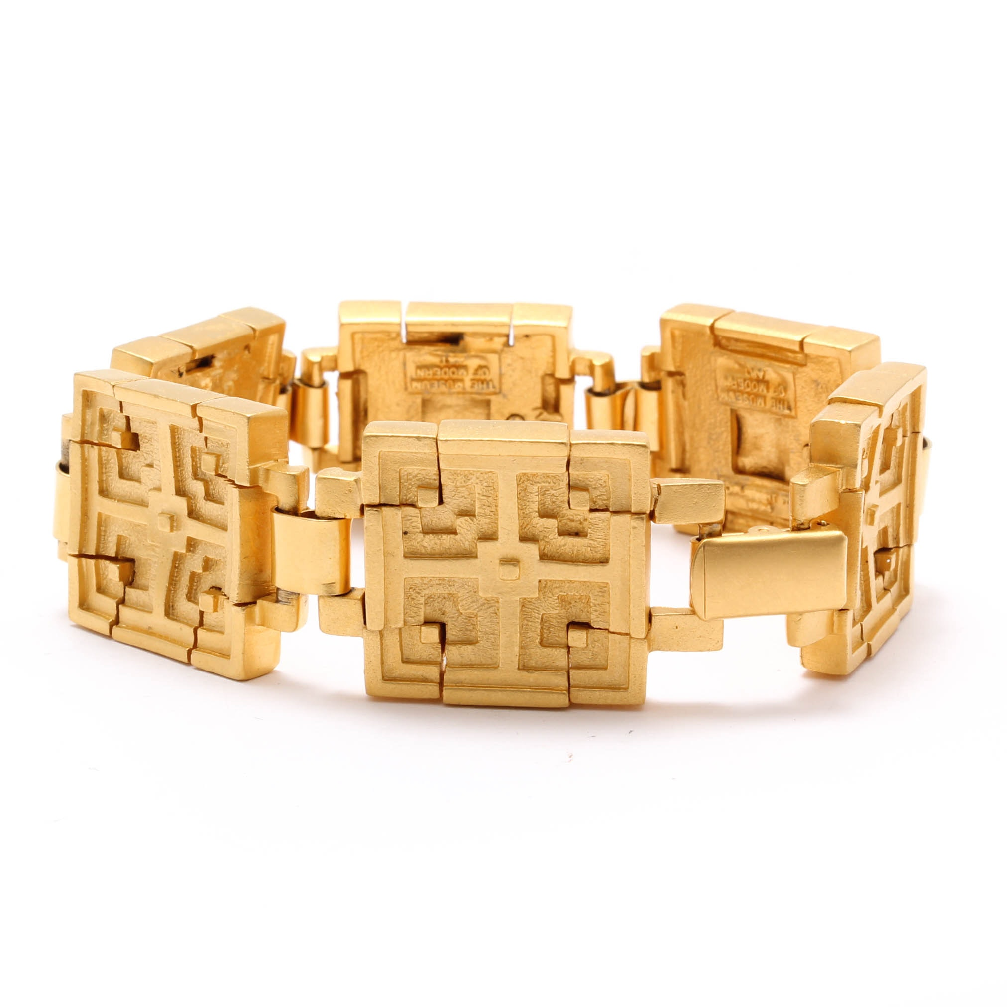 Museum of Modern Art Gold Tone Bracelet