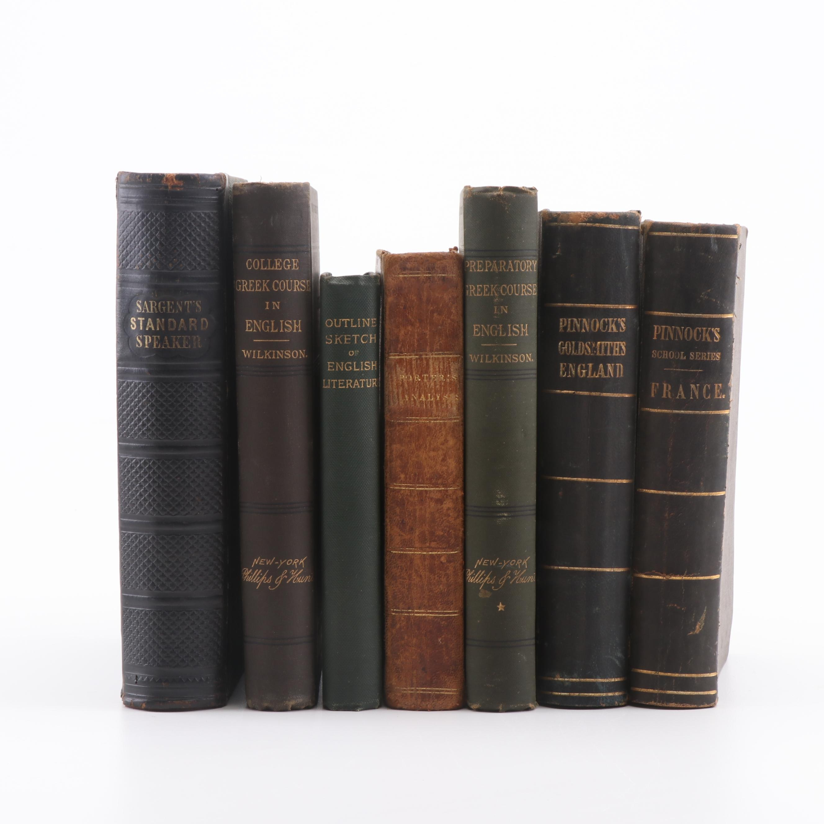 19th Century Books on Language, Speech, and History
