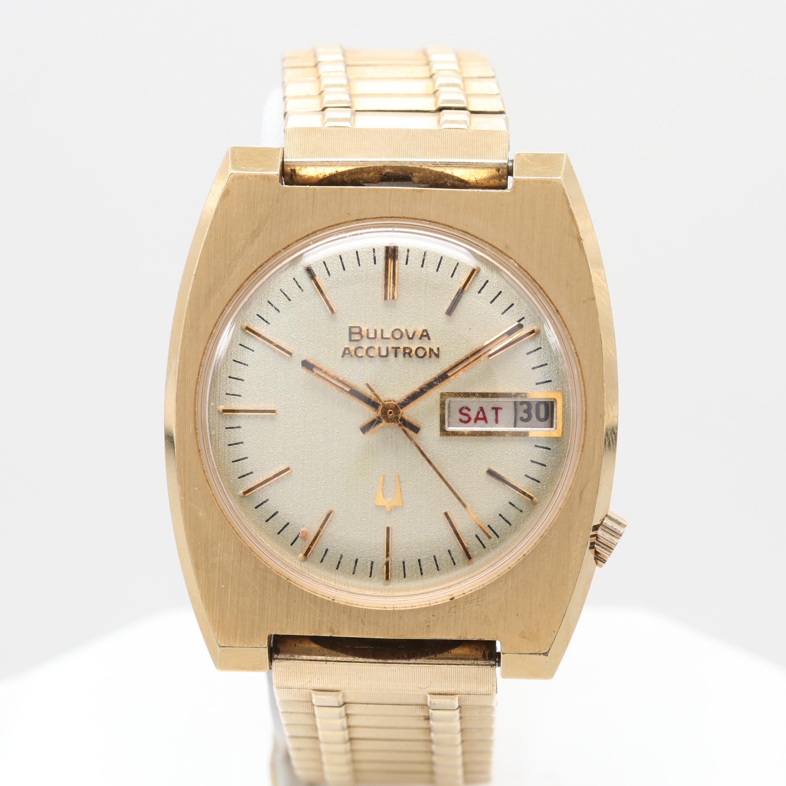 Bulova Accutron Wristwatch With Day/Date Window