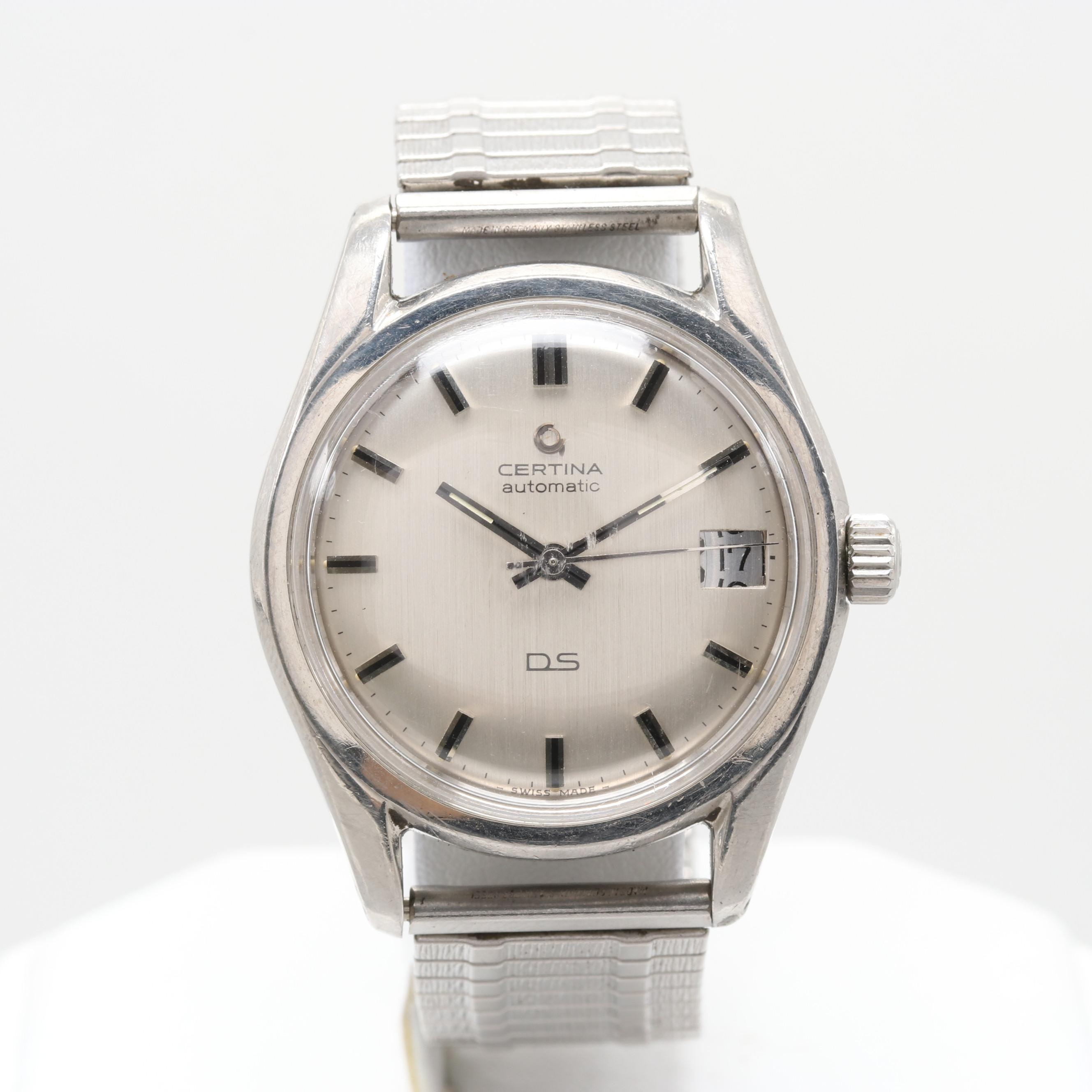 Certina DS Stainless Steel Automatic Wristwatch With Date Window