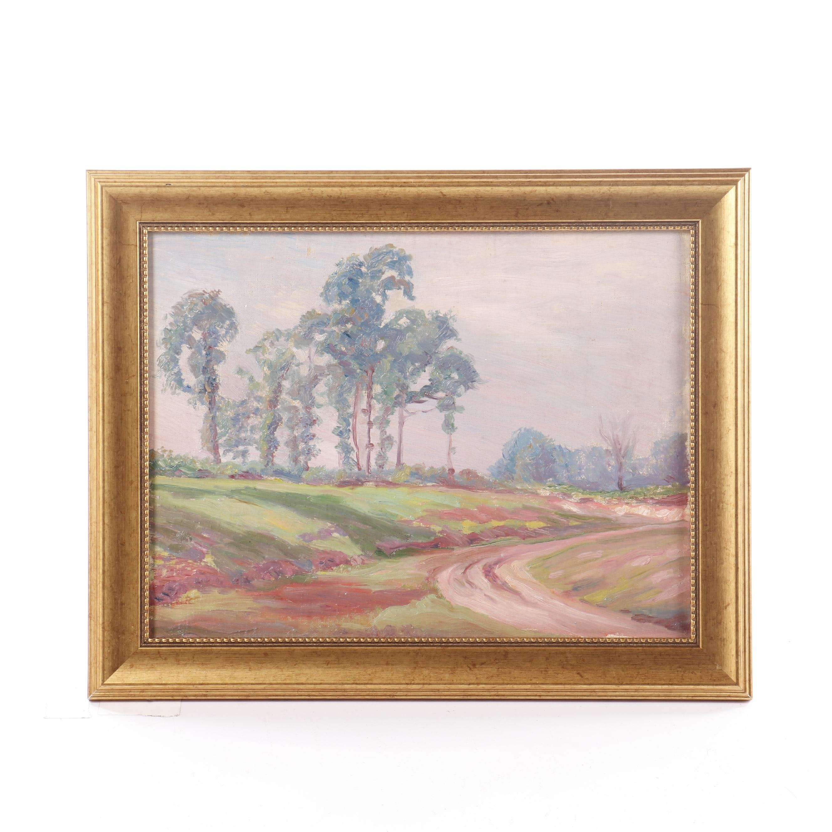 Landscape Oil Painting in the Manner of George Raab