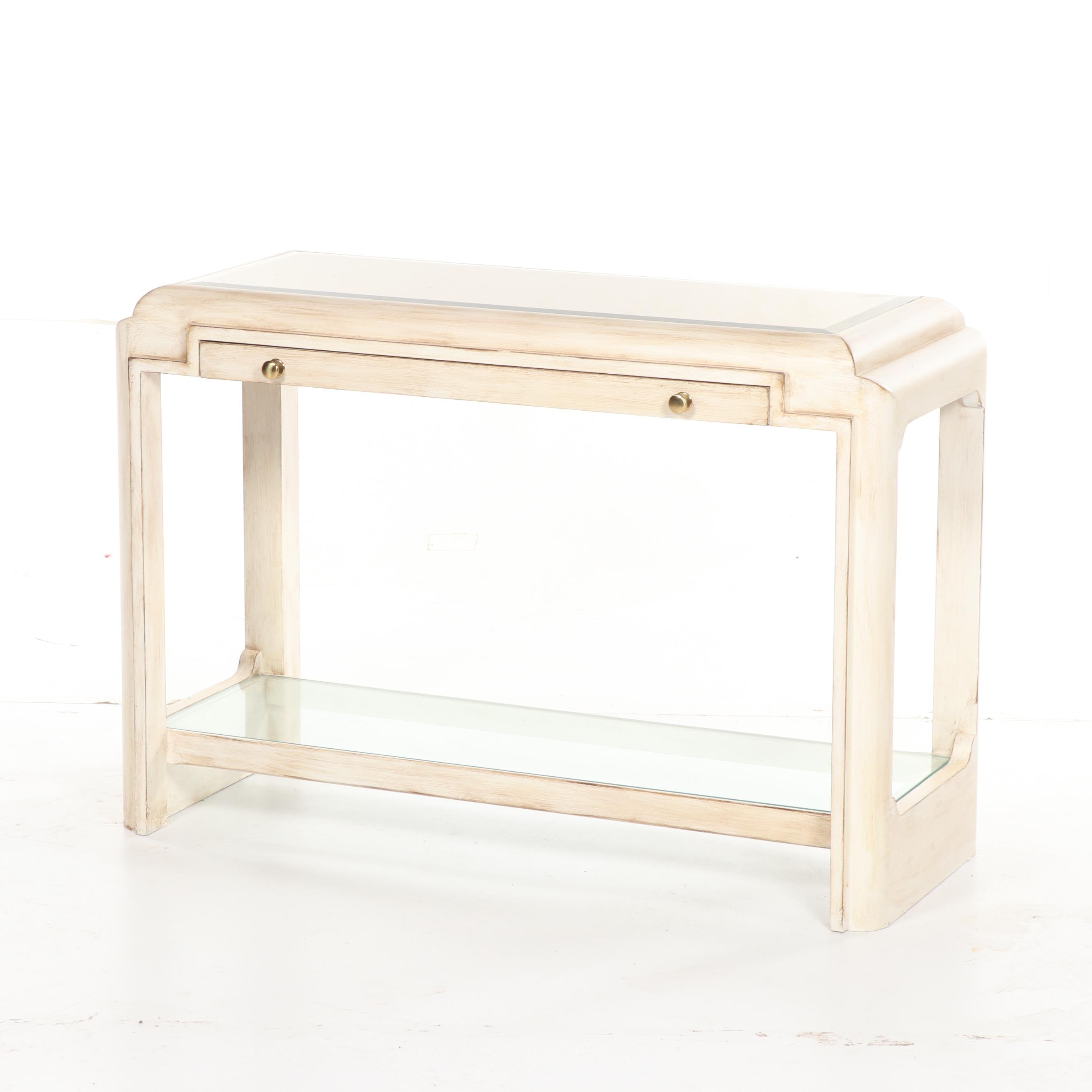 Contemporary Painted Wood Console Table by Romweber Furniture