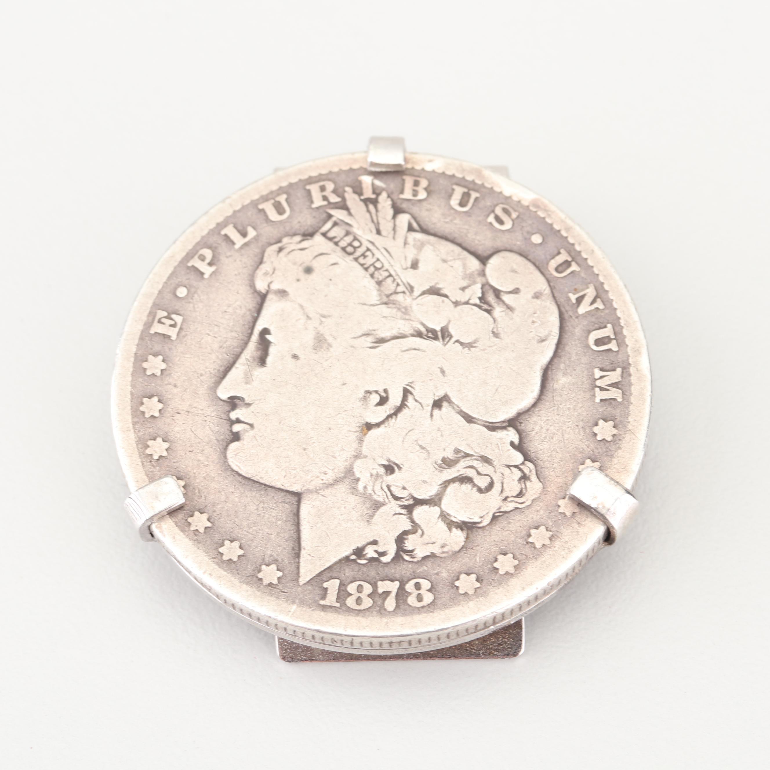 1878 Morgan Silver Dollar Money Clip