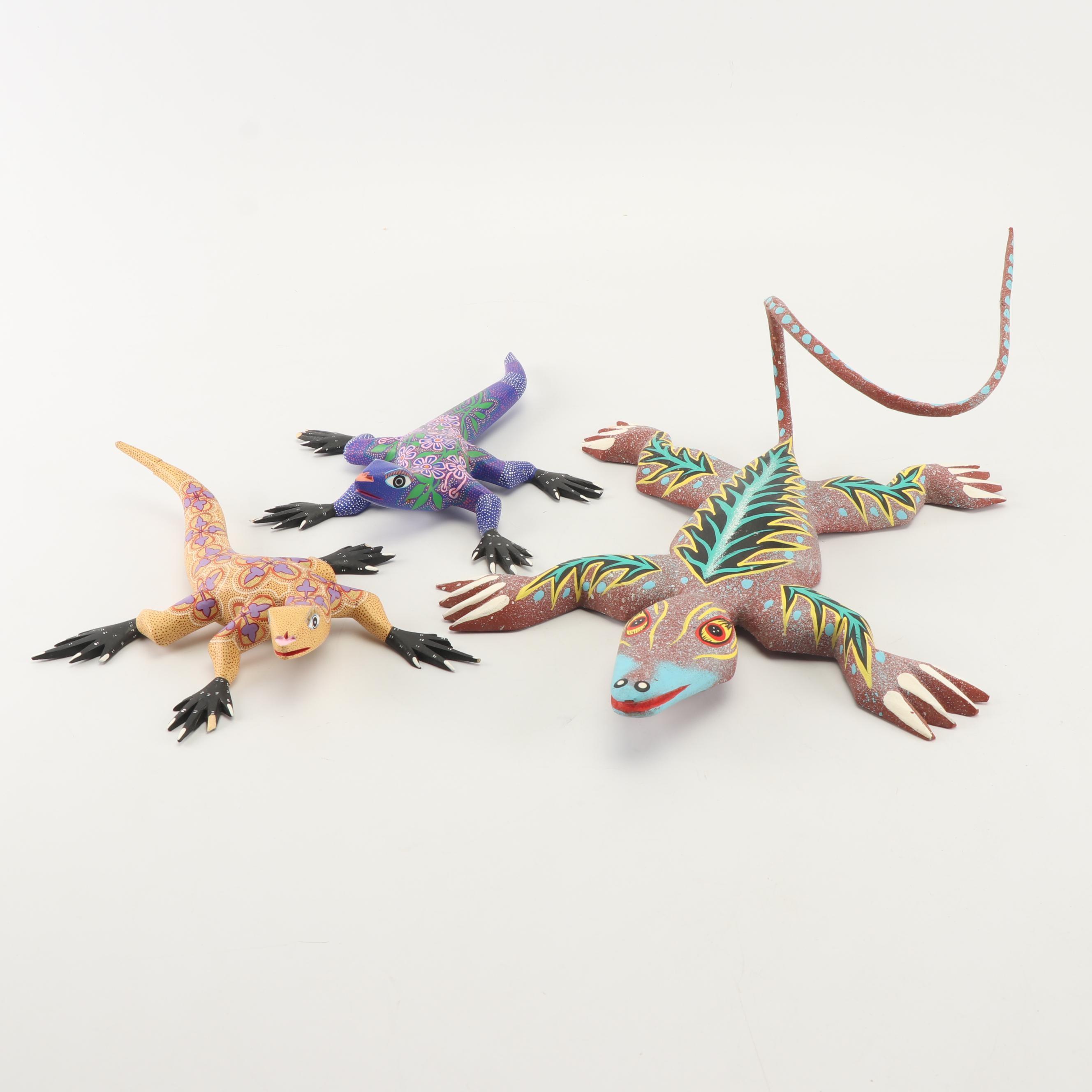 Mexican Oaxacan Lizard Alebrijes