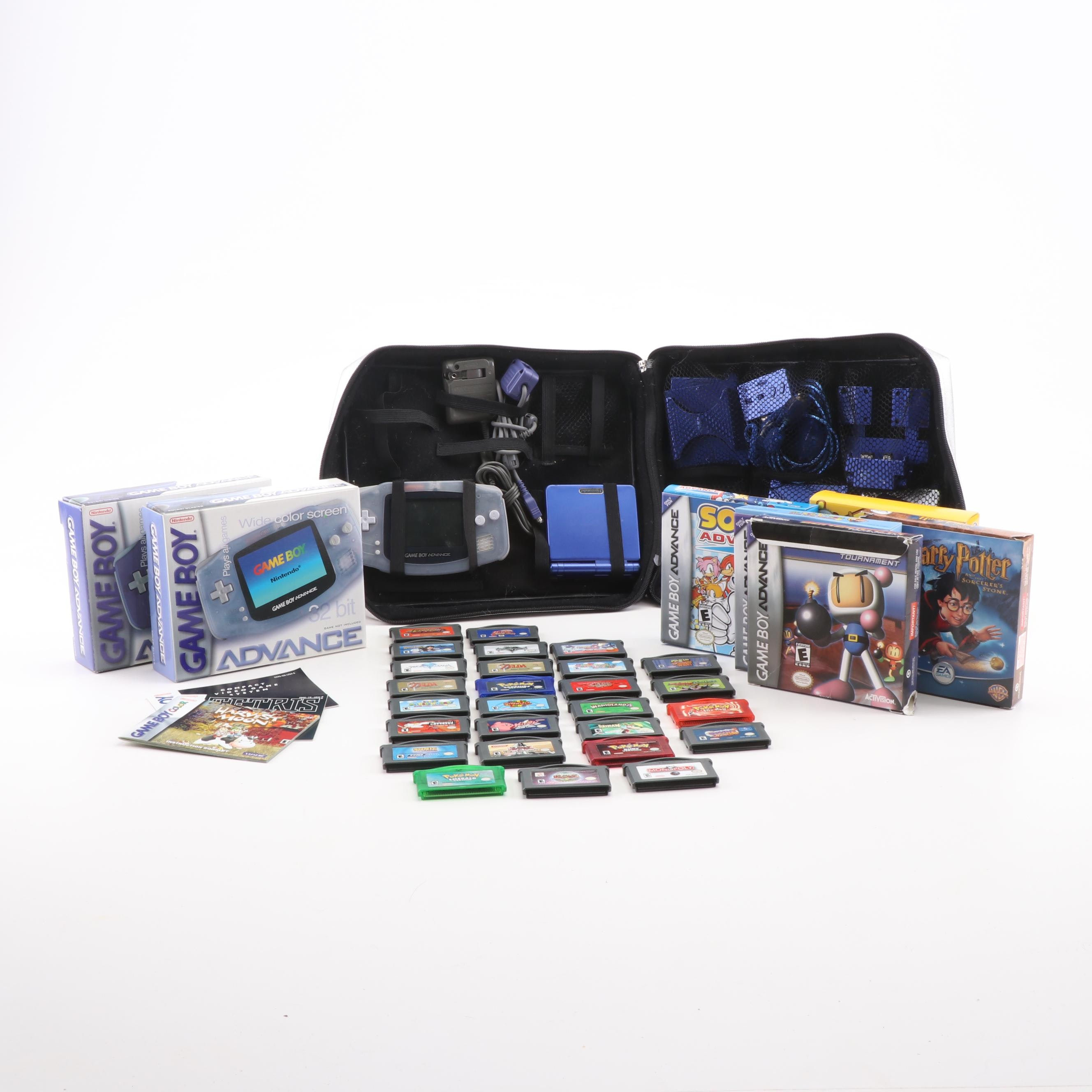 Nintendo Game Boy Advance Consoles with Games and Accessories