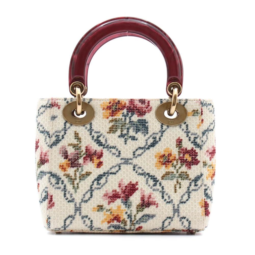 Christian Dior Paris Mini Lady Dior Handbag