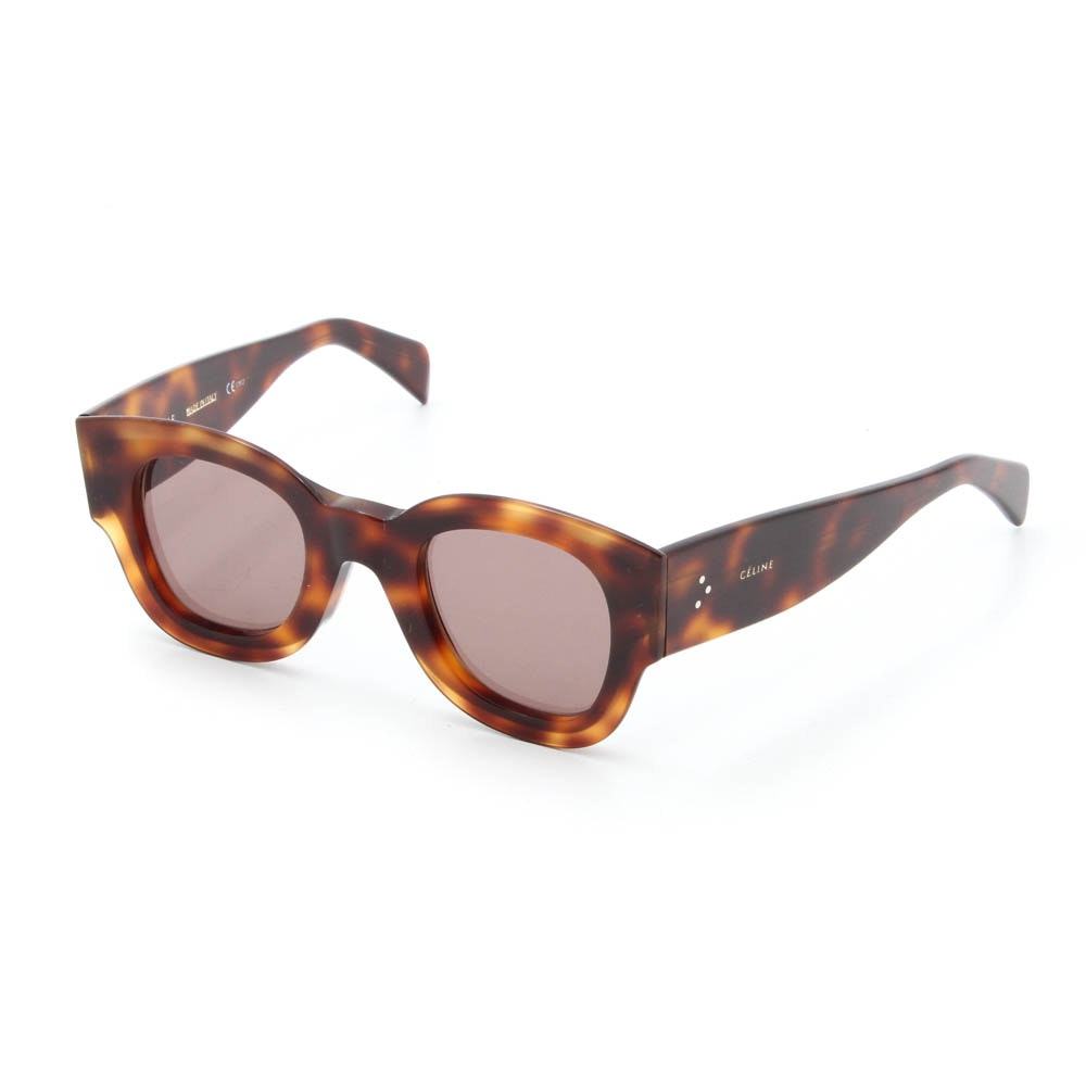 Céline Tortoiseshell-Style Acetate CL 41446/S Cat Eye Sunglasses, Made in Italy