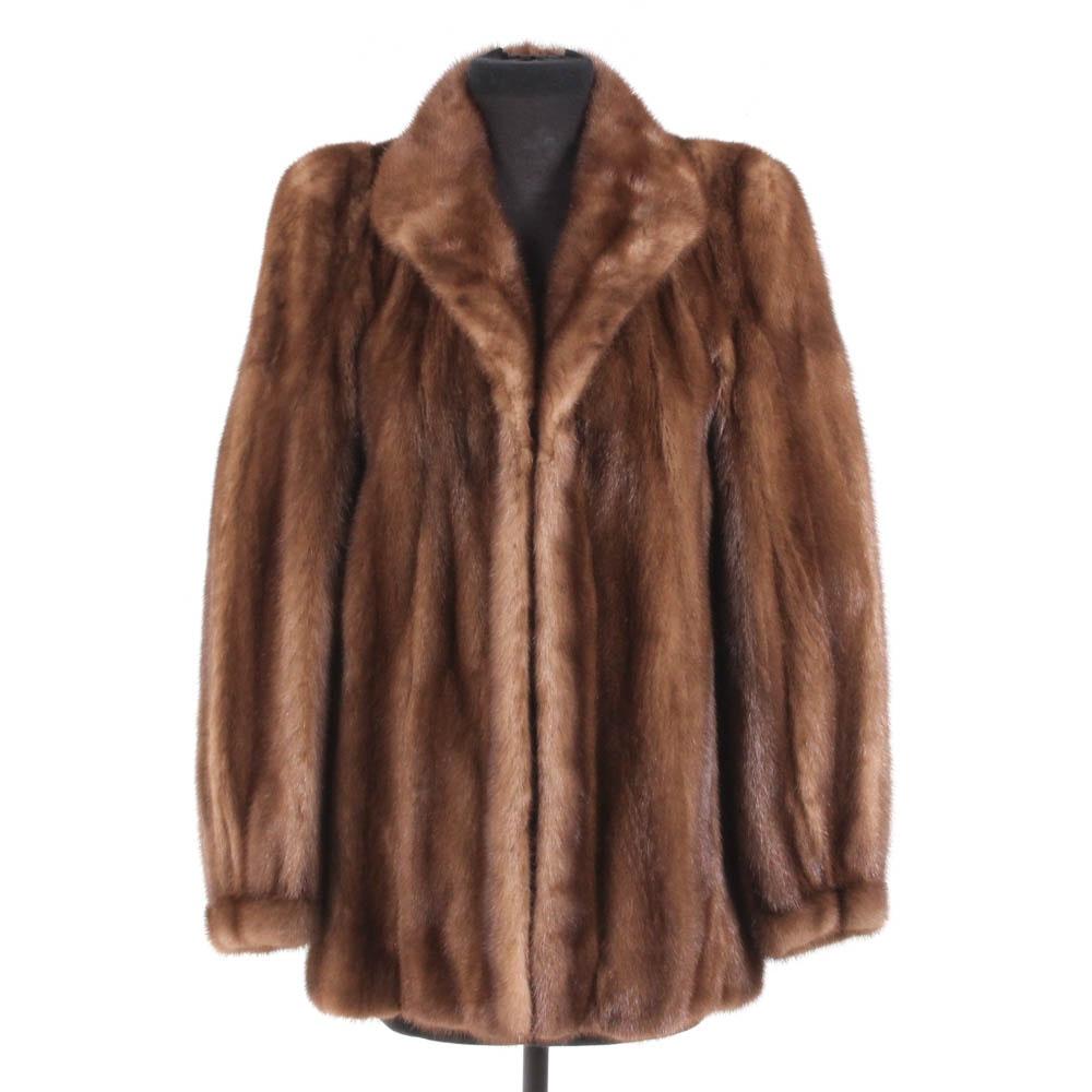 LLoyd's Chestnut Mink Fur Jacket