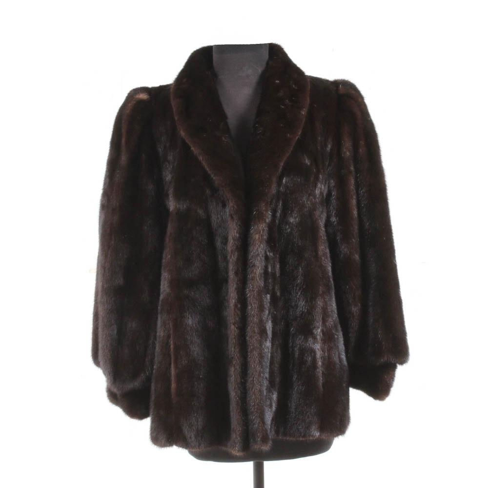 Vintage Mahogany Mink Fur Jacket
