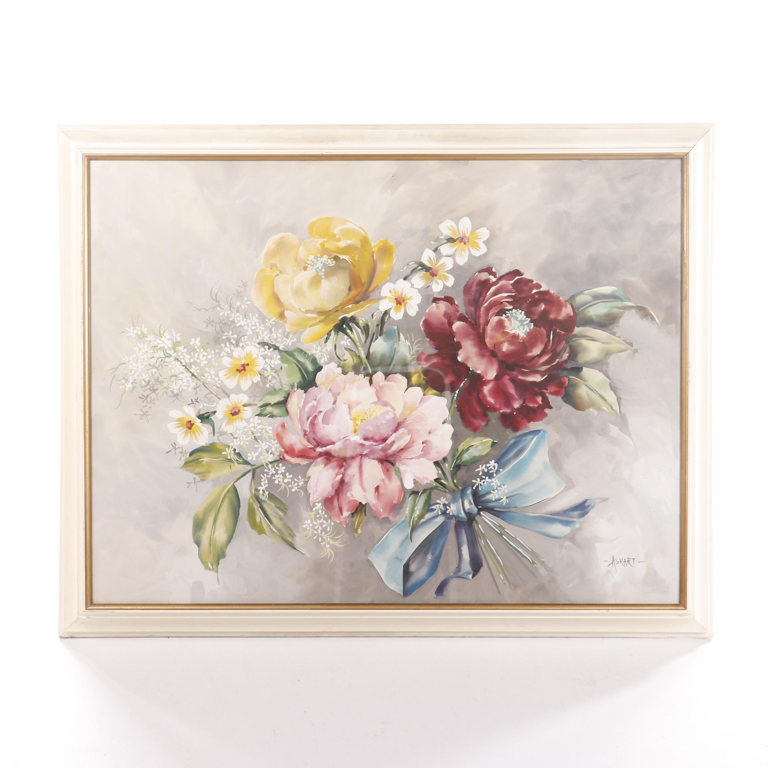 Askart Floral Gouache Painting