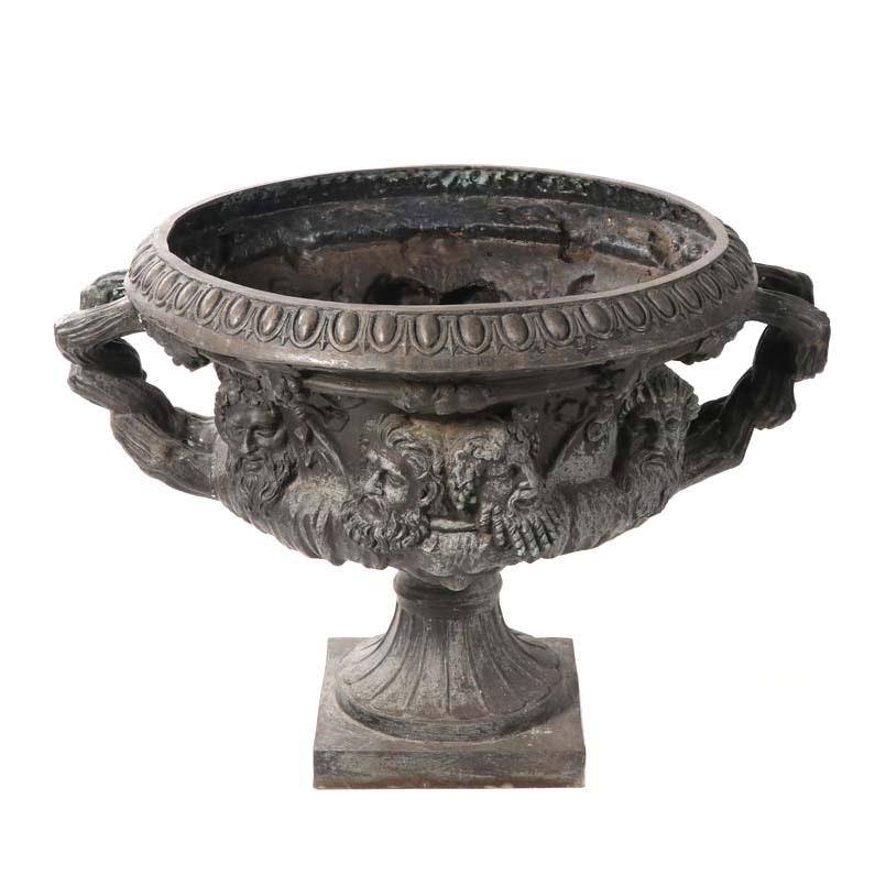 Neoclassical Style Metal Urn Jardiniere