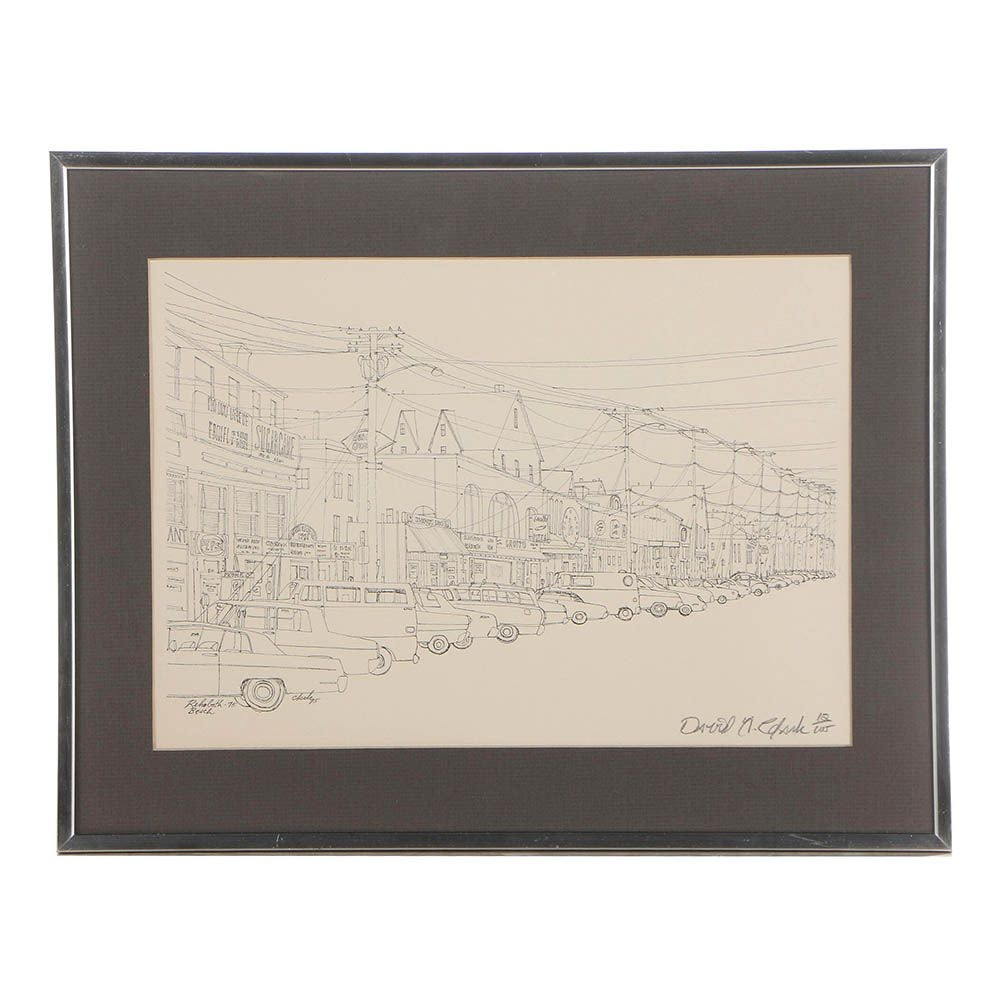 "David Clark Limited Edition Lithograph ""Rehoboth Beach"""