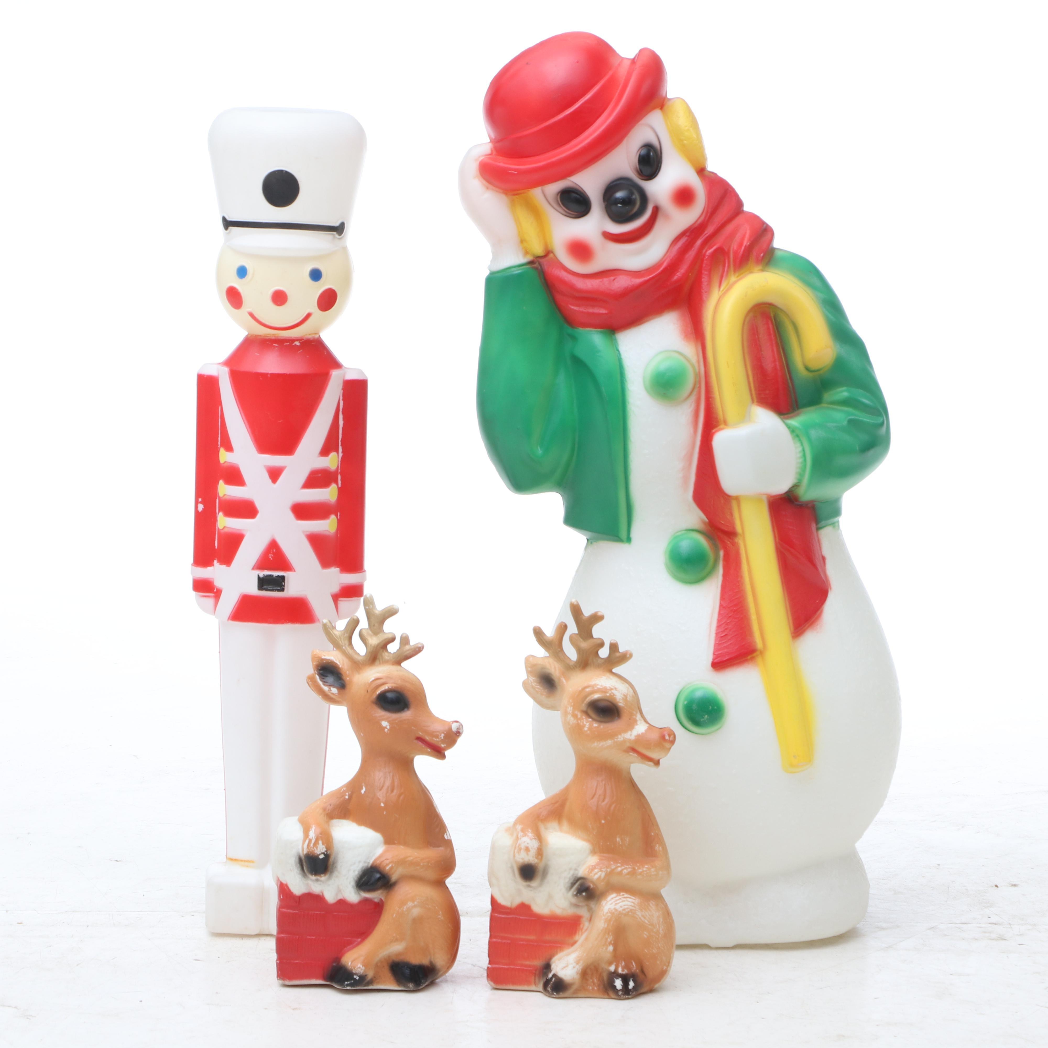 Vintage Bubble Figure Christmas Figurines