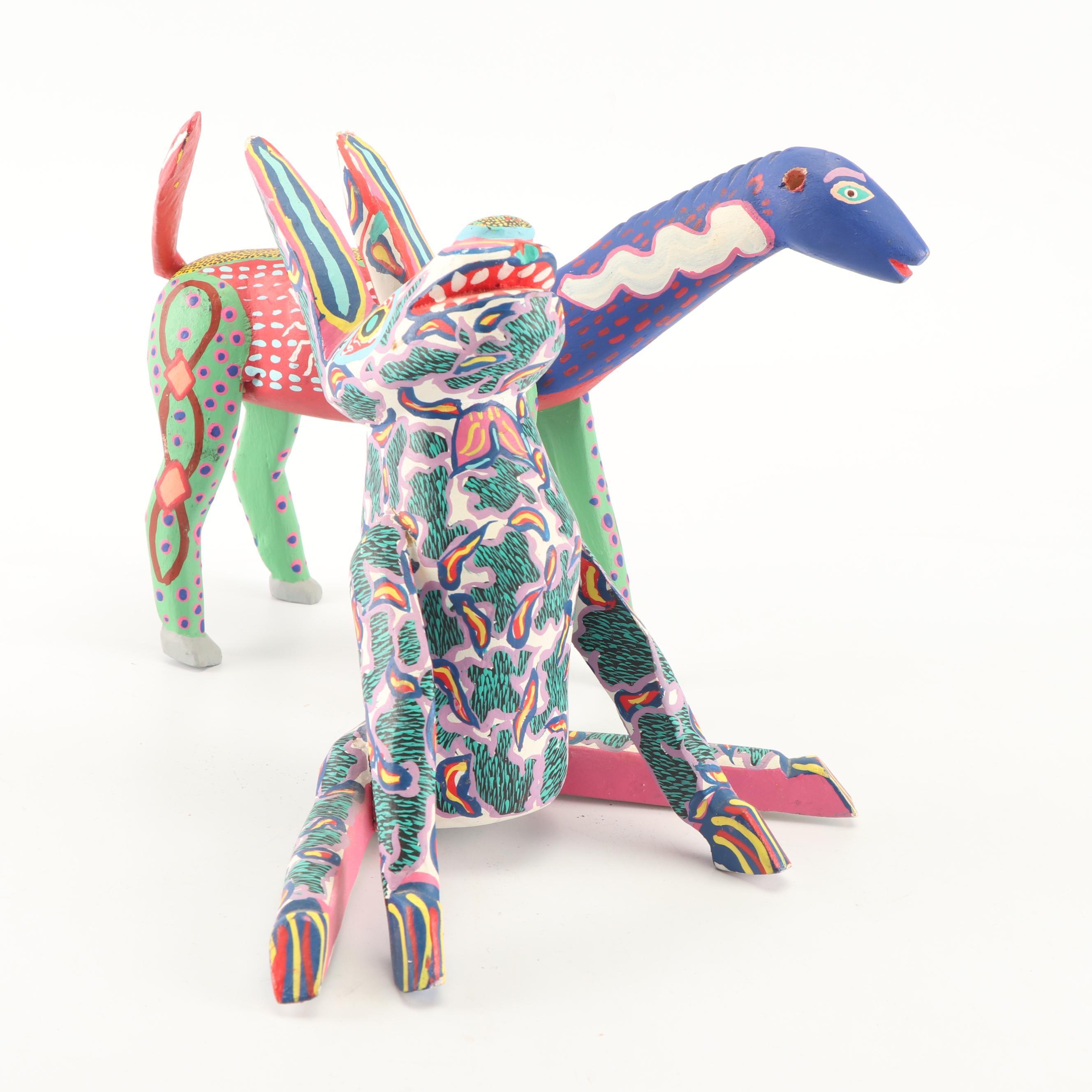 Mexican Folk Art Alebrijes Figurines