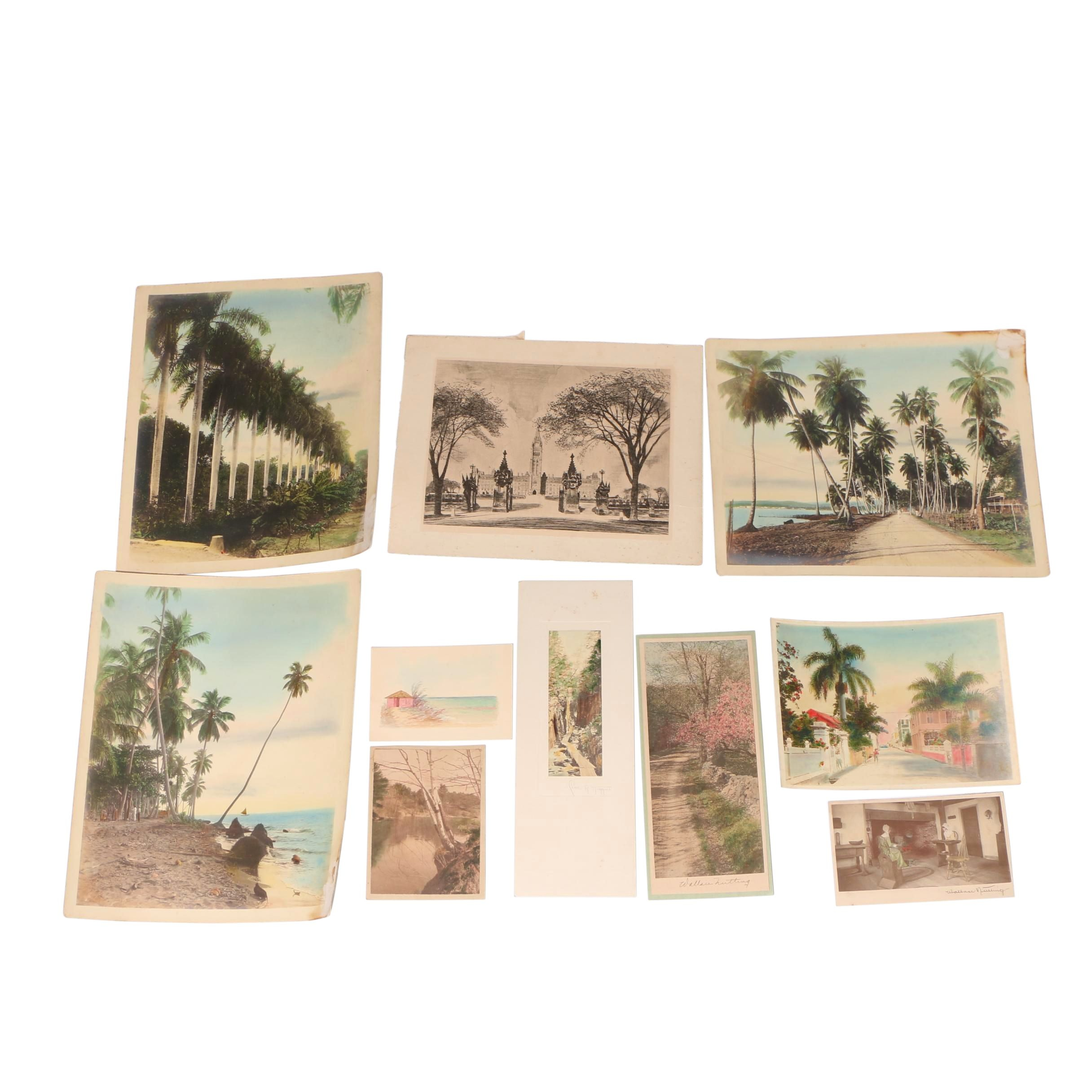 Hand-Colored Photographs Including Wallace Nutting and Charles R. Higgins