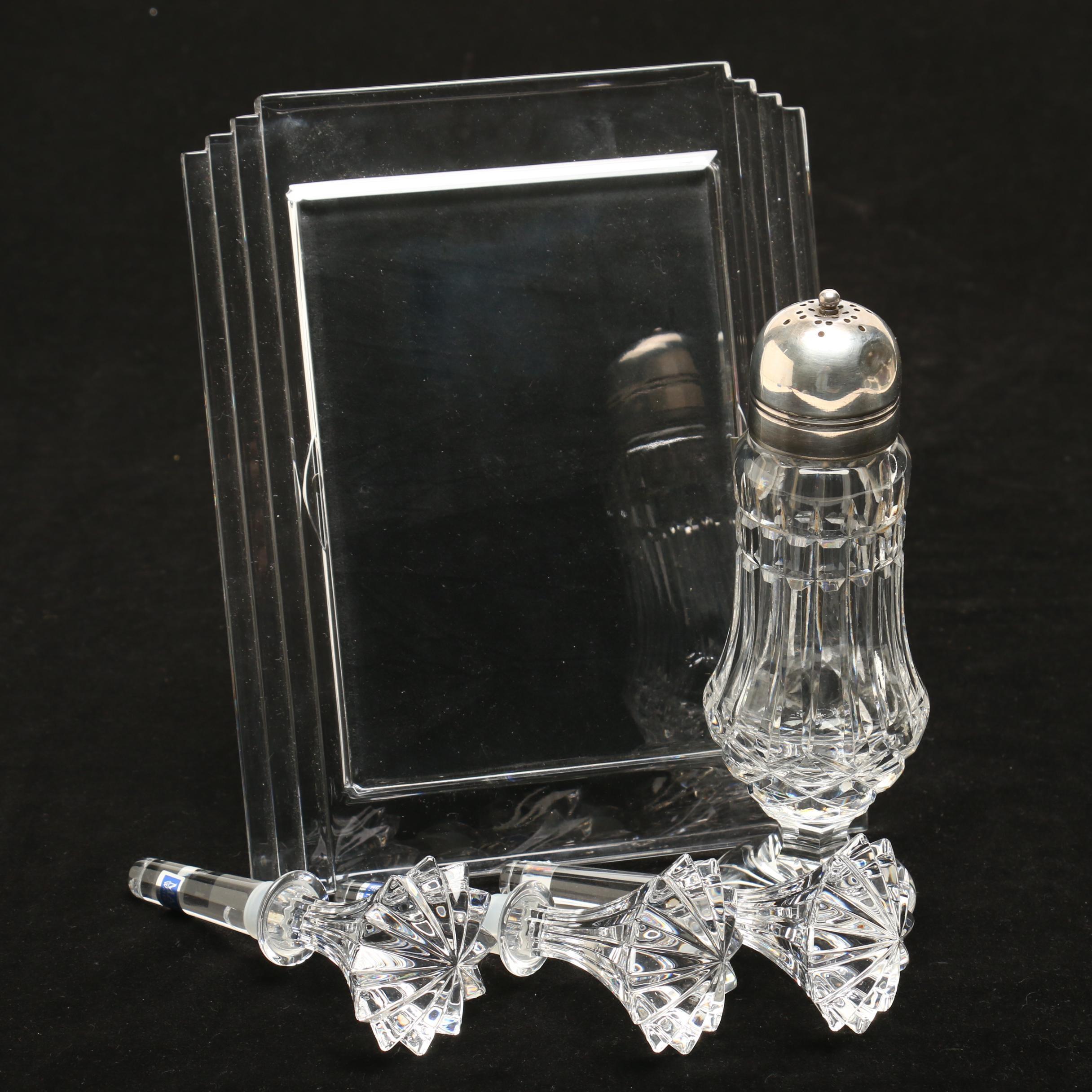 """Waterford Crystal """"Metropolitan"""" Frame and Tableware"""