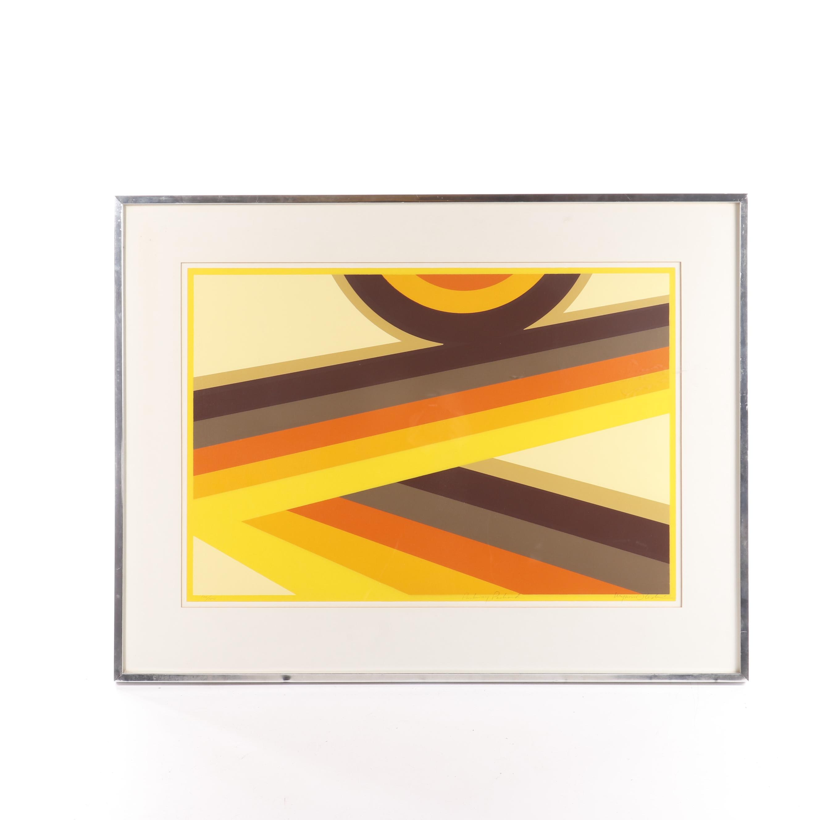 "Abstract Geometric Serigraph ""Parkway Pachard"""