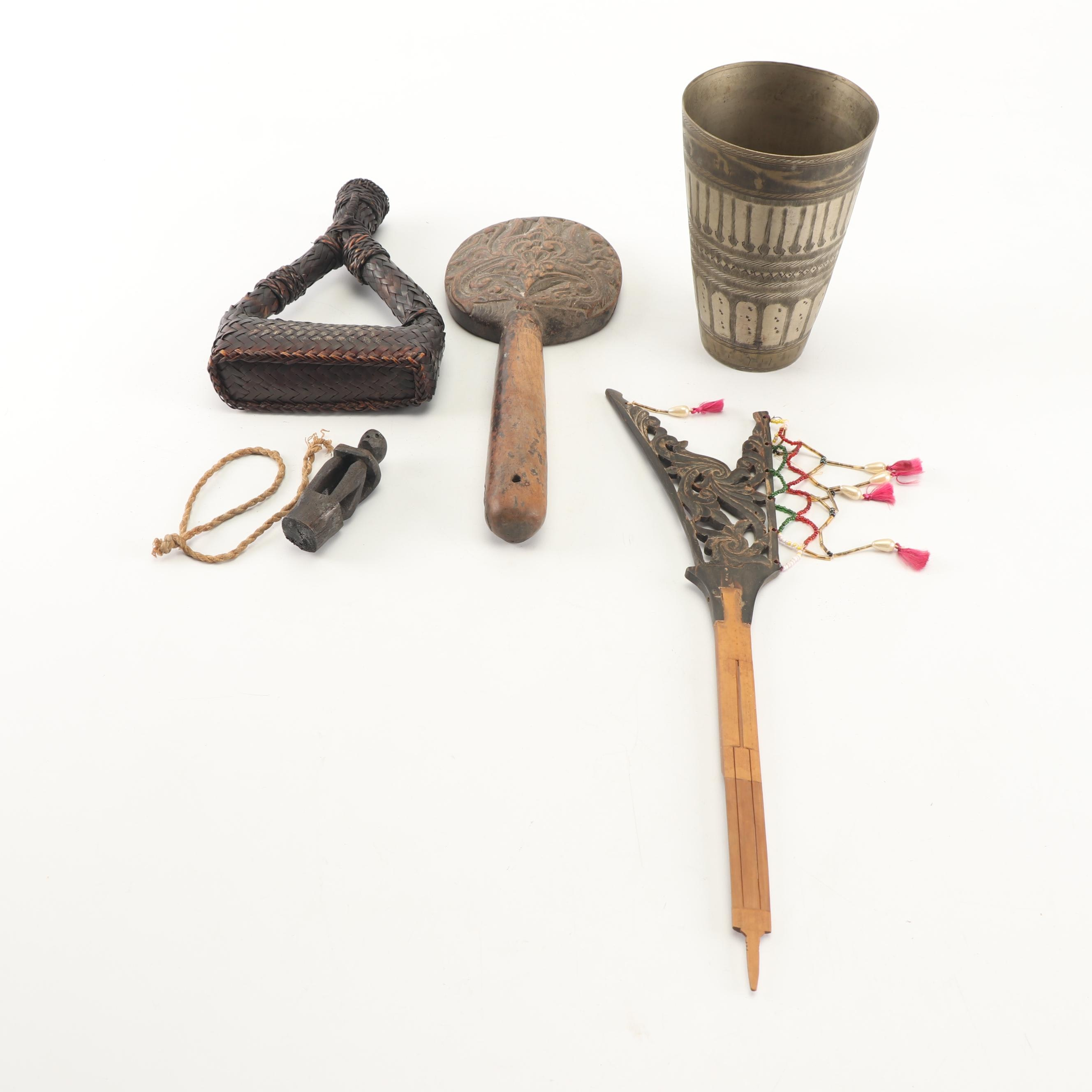 Filipino Pinakbet Woven Cricket Carrier with Figural Stopper and More