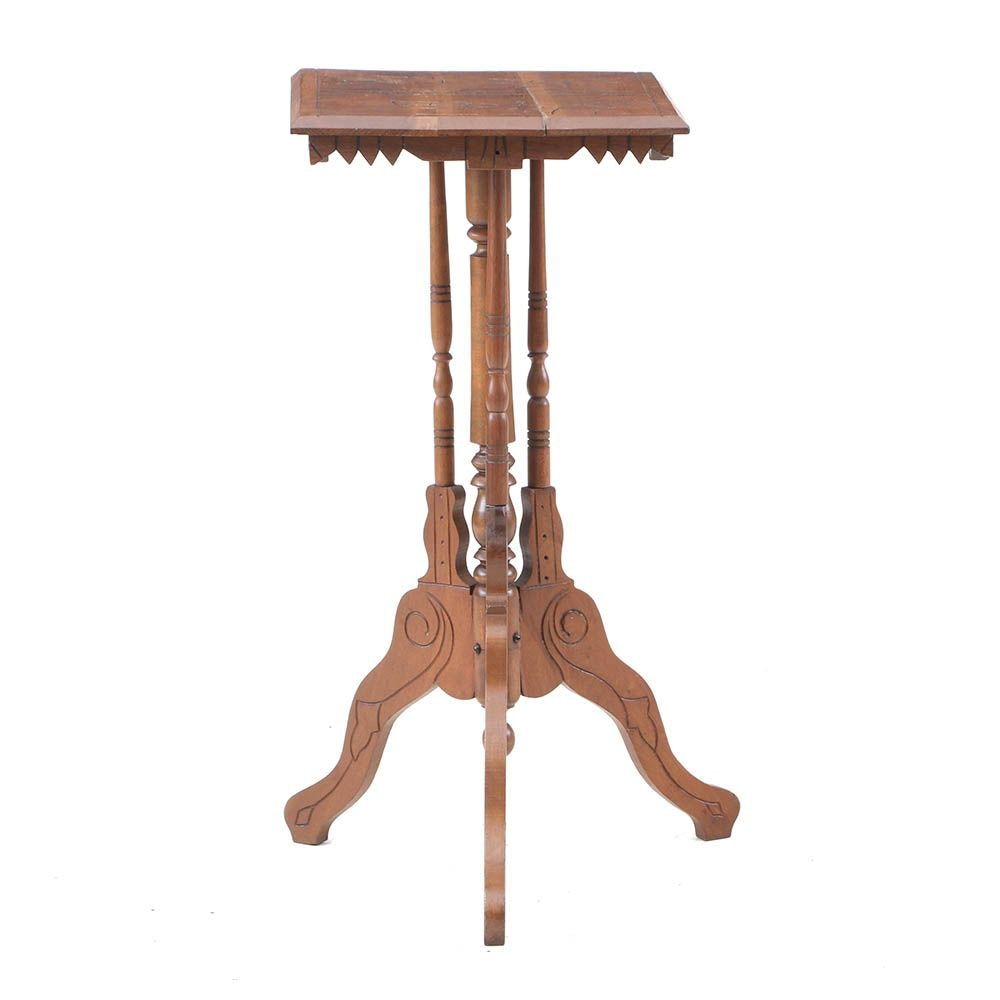 Eastlake Style Occasional Table in Walnut