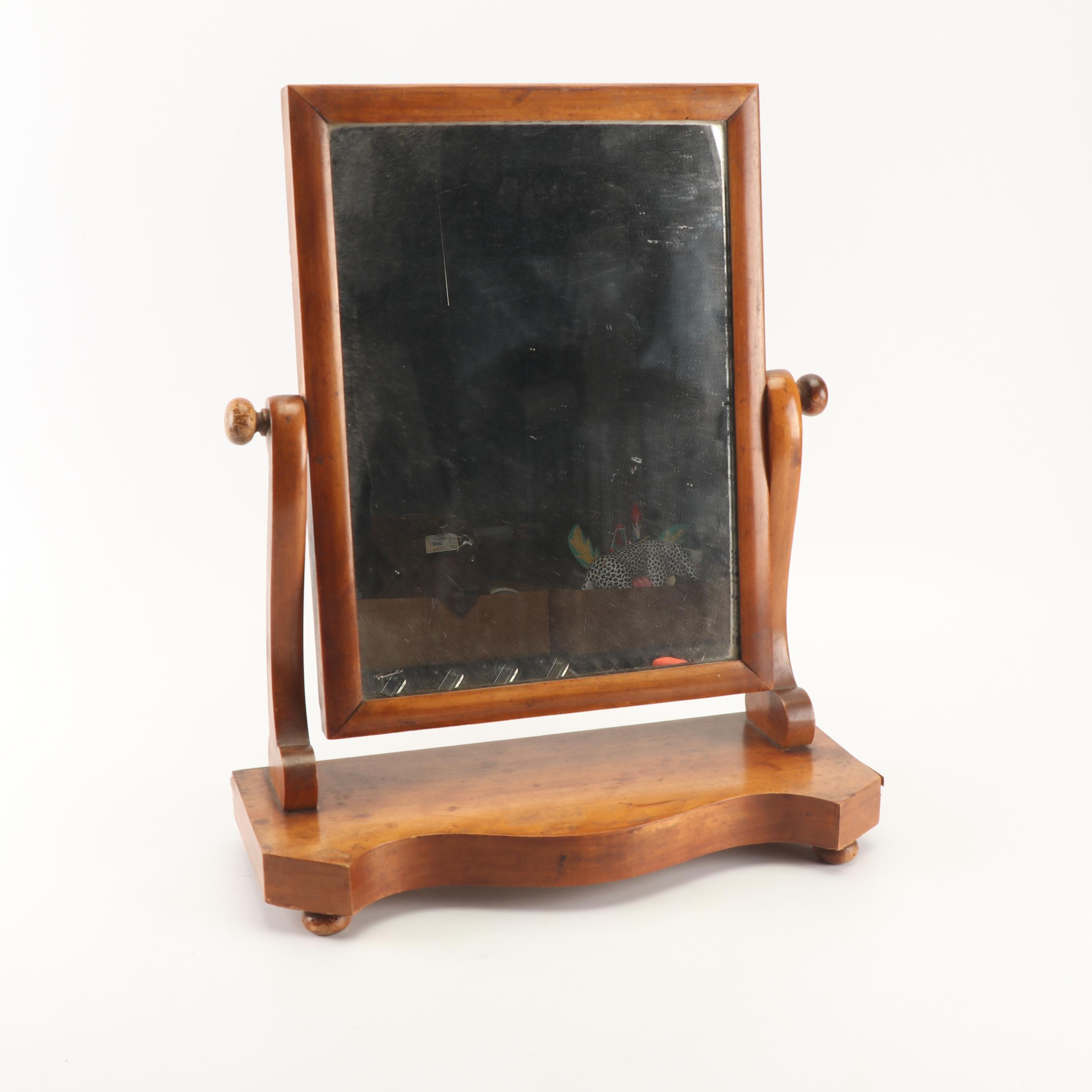 Cherry Chest Top Vanity Mirror, Early 20th Century