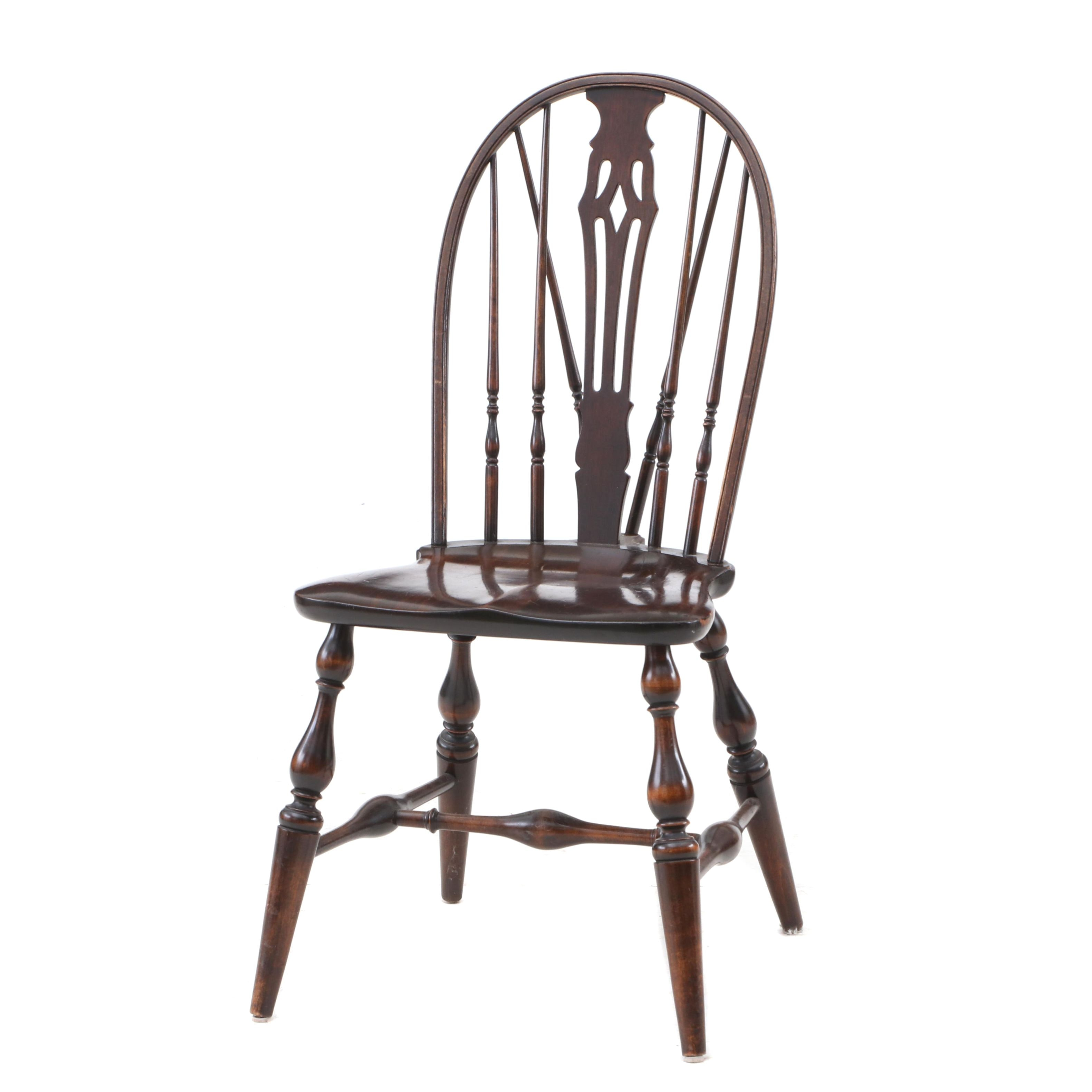 Windsor Style Side Chair in Mahogany
