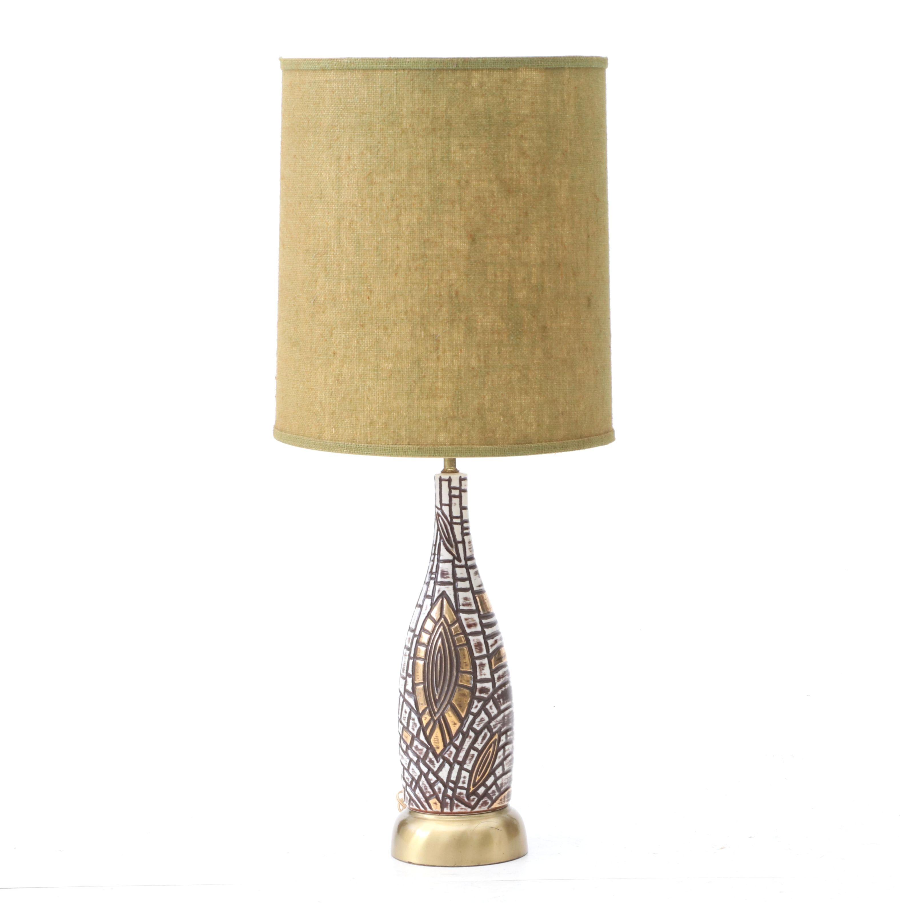 Mid Century Modern Style Ceramic Table Lamp