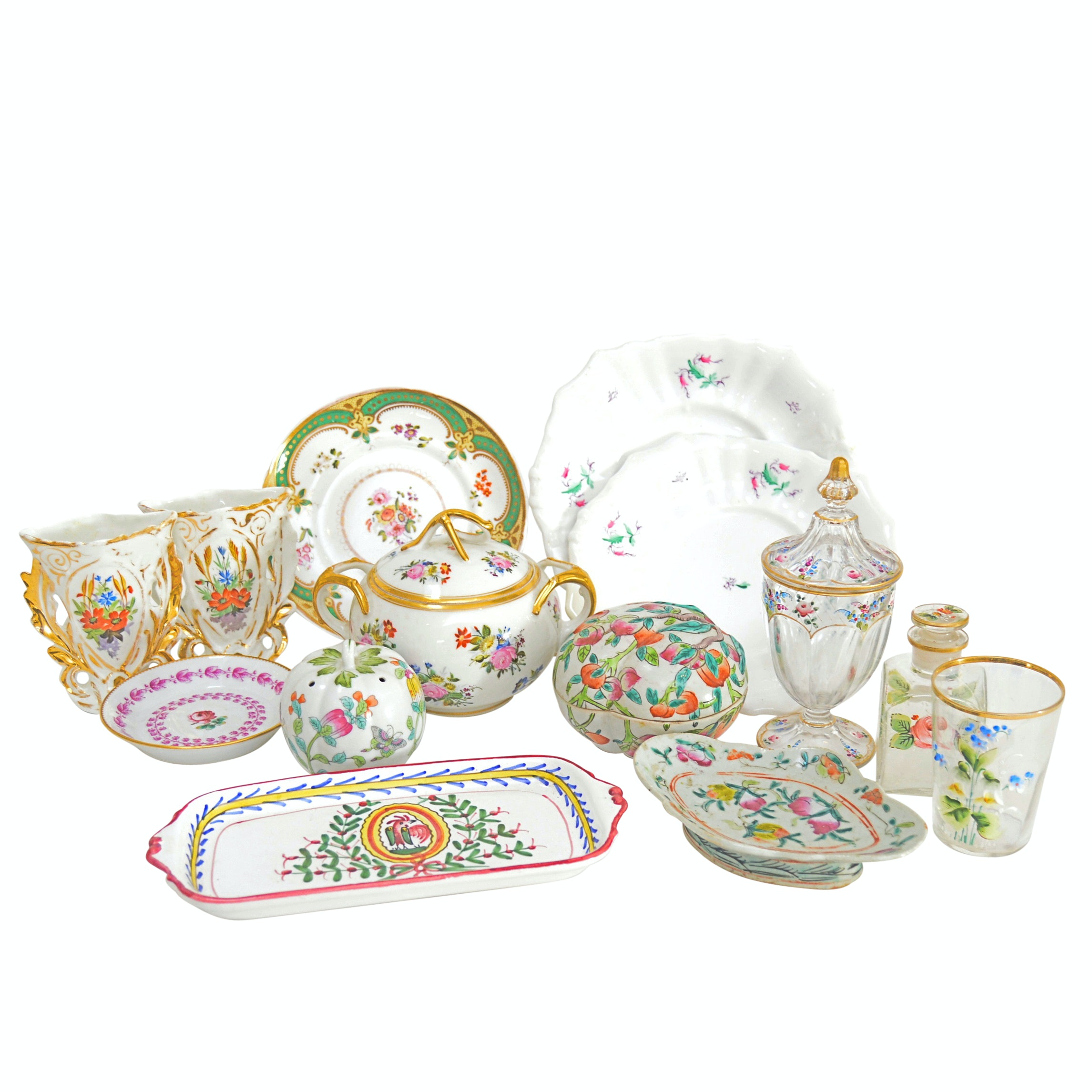 Vintage Porcelain Serveware and Vases with Ginori