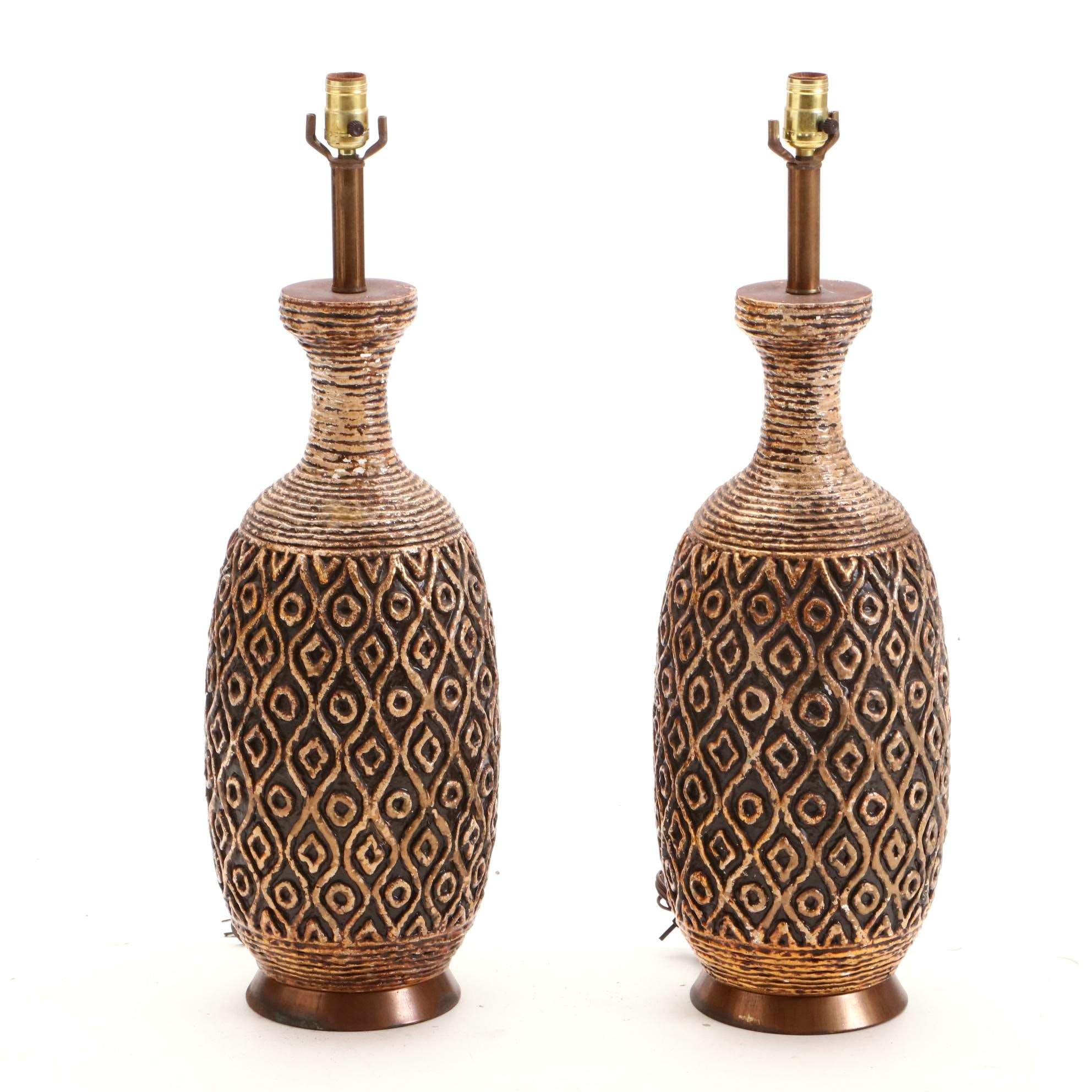 Mid Century Style Ceramic Table Lamps