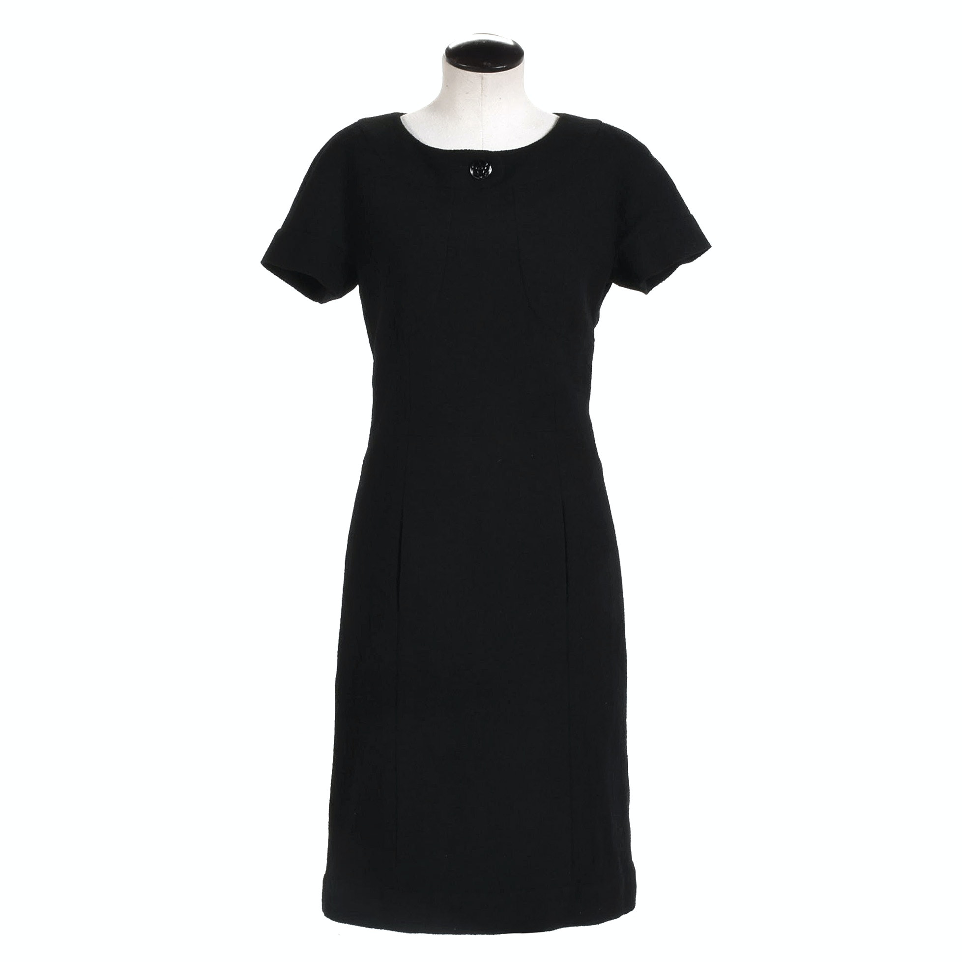 Chanel Black Bouclé Knit Dress, Made in France