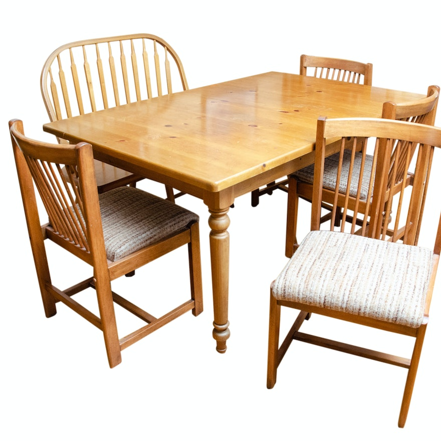 Miraculous French Country Style Dining Table Windsor Bench And Chairs Gamerscity Chair Design For Home Gamerscityorg