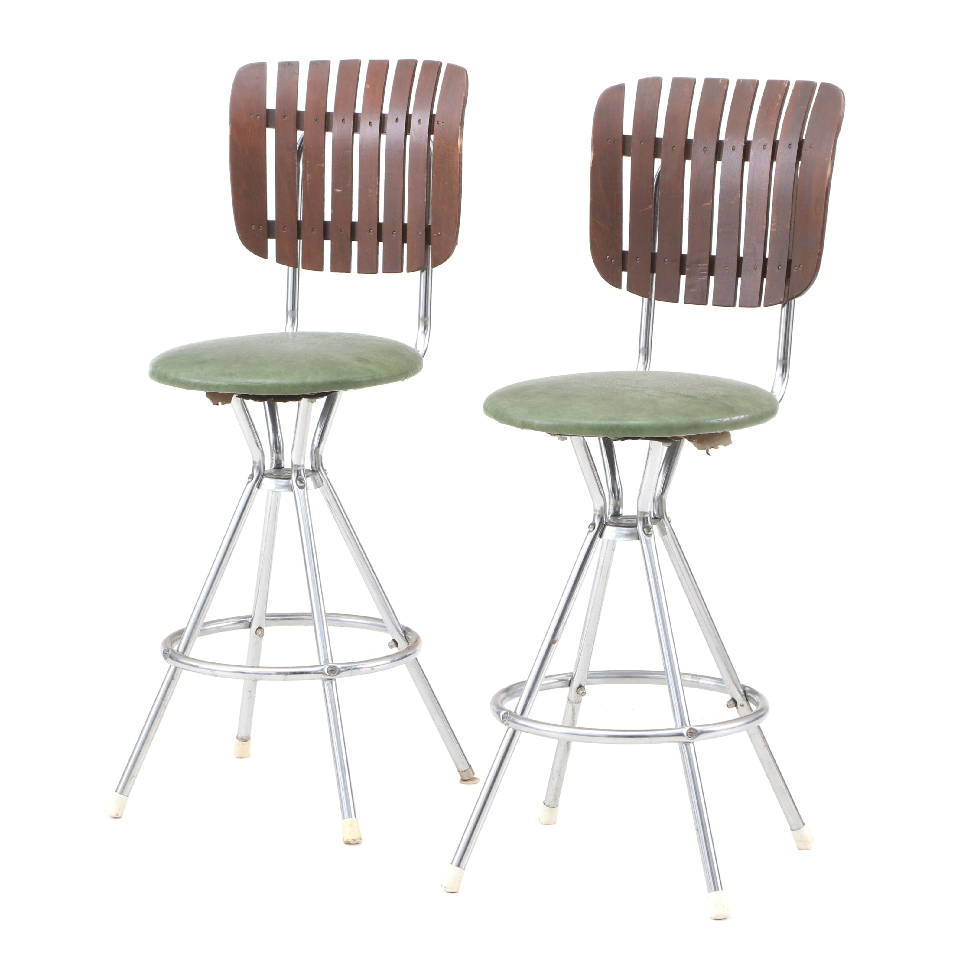 Mid Century Modern Swivel Stools by Comfort Lines