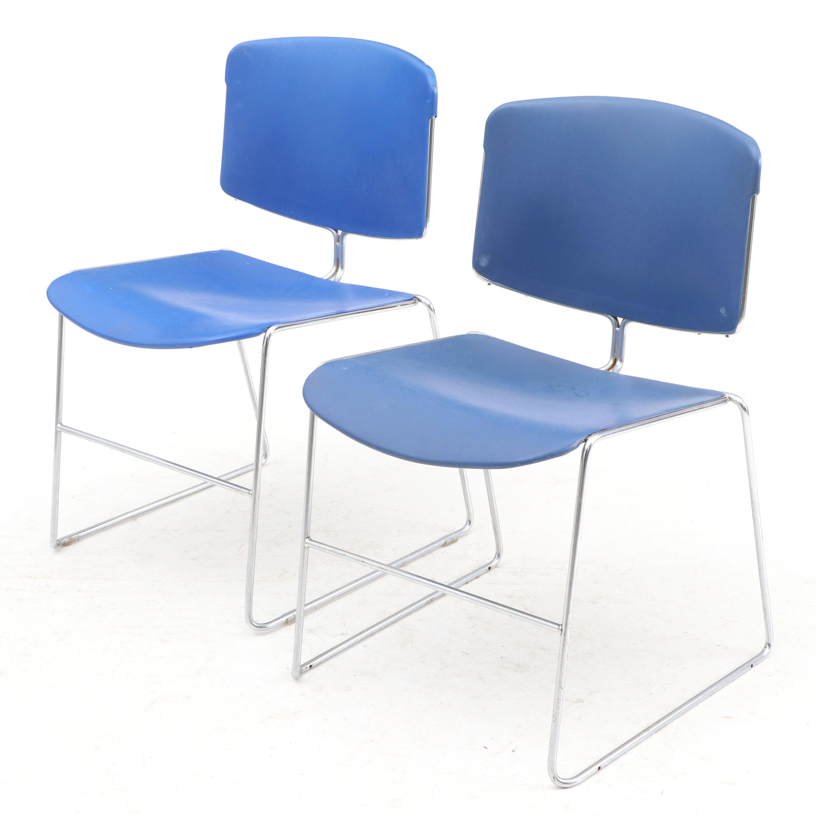 Chrome and Molded Plastic Side Chairs by Steelcase