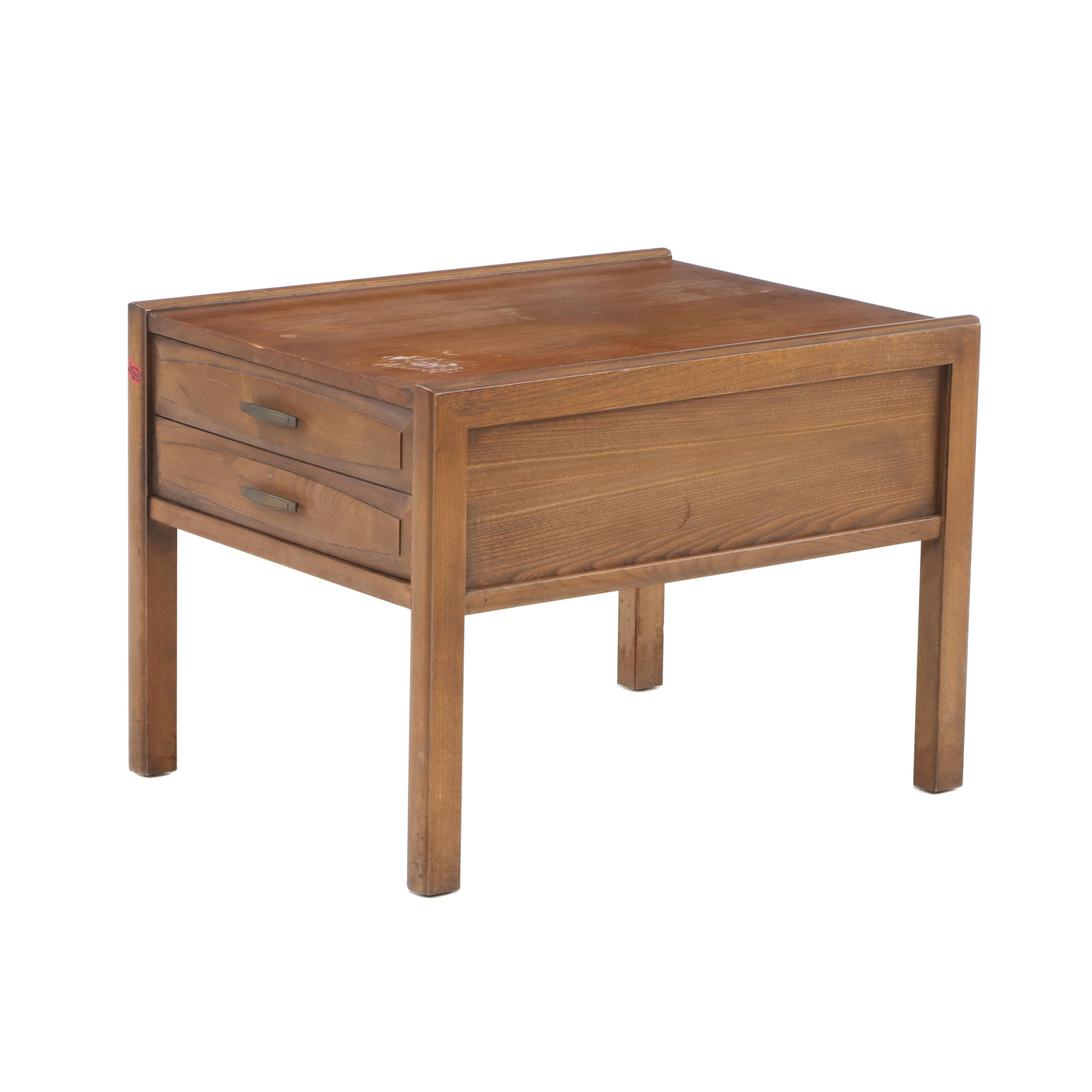 Mid Century Modern Walnut End Table by Hammary, Mid-20th Century