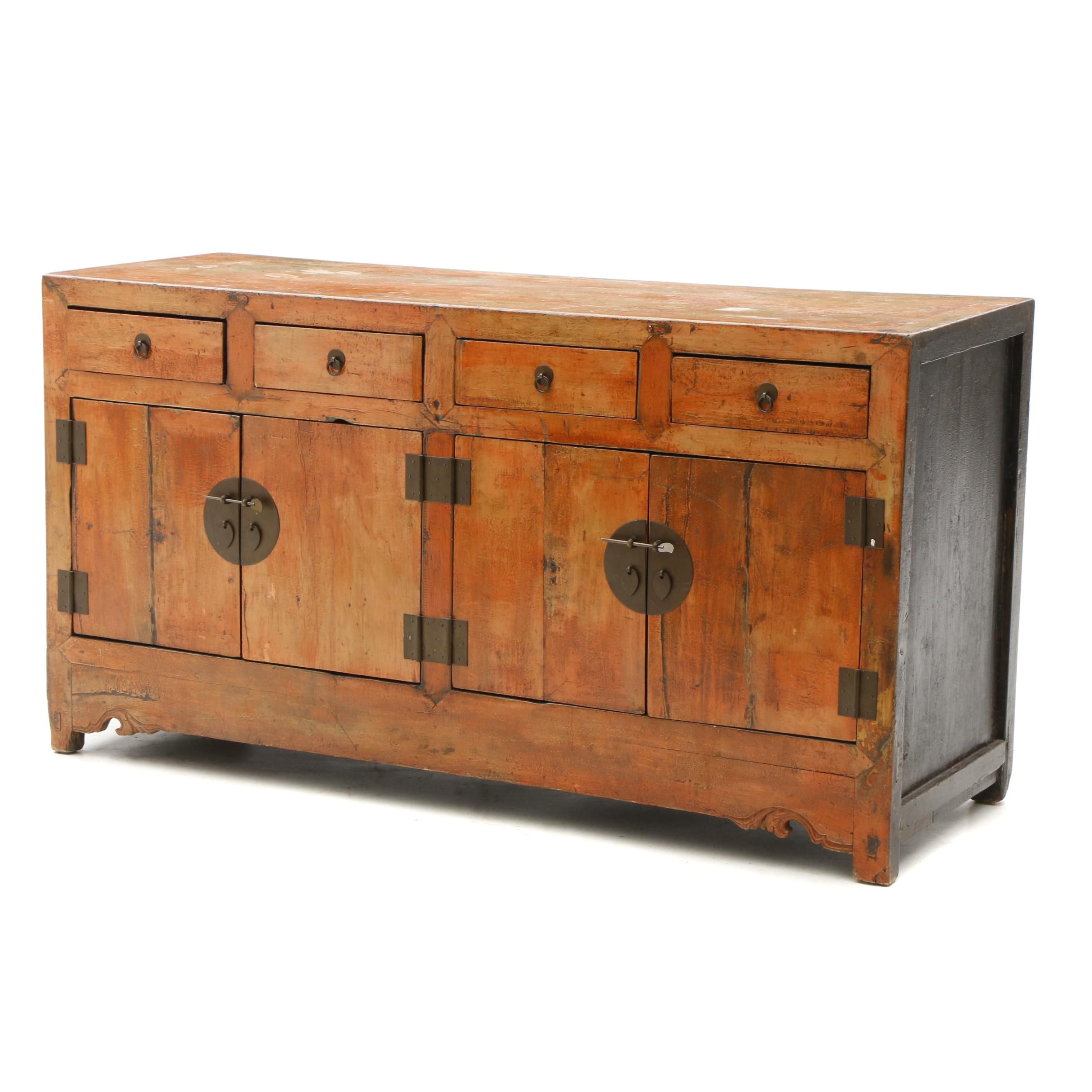 Chinese Wood Sideboard, 19th Century