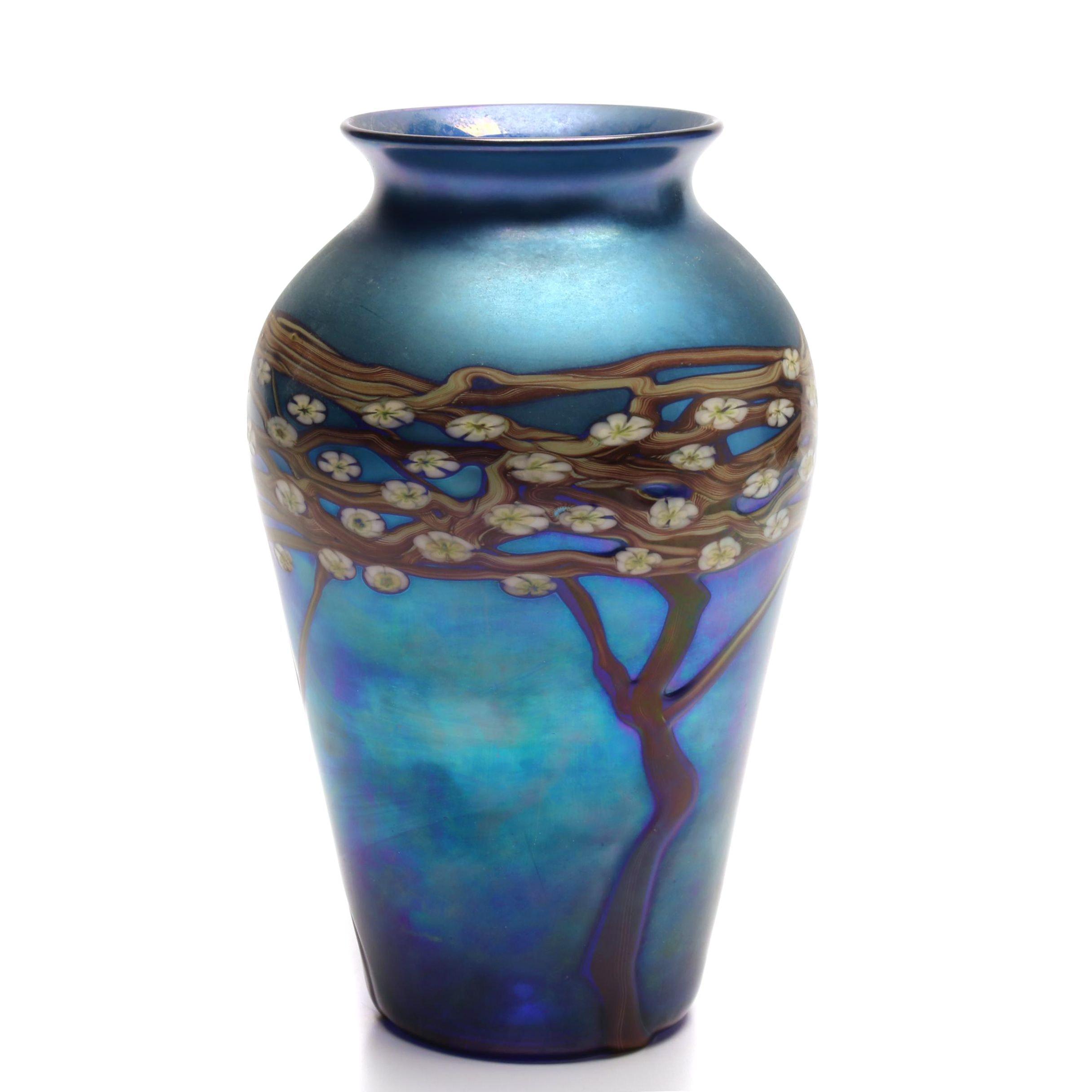 Zellique Art Glass Vase, Late 20th Century
