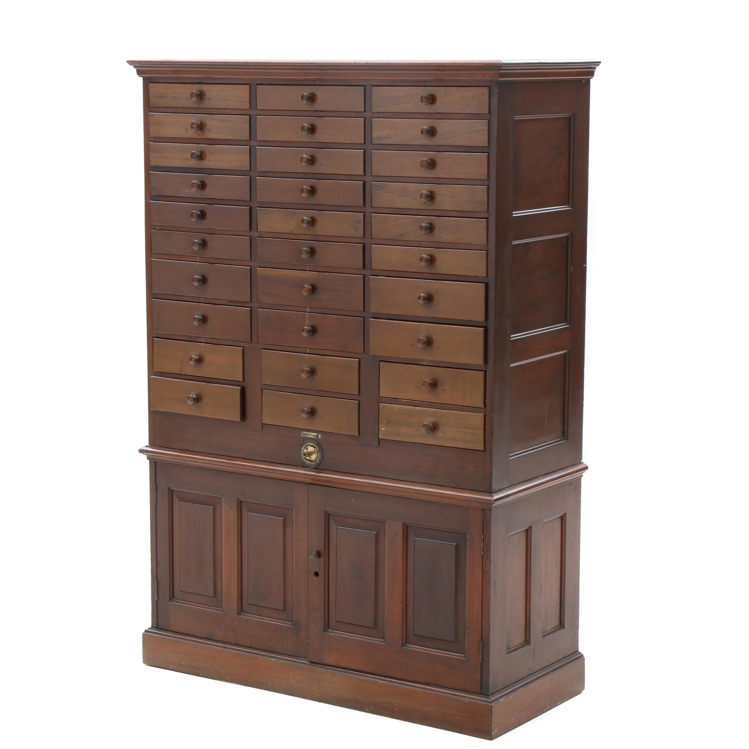 American Mahogany Office Storage Cabinet by Vetter Desk Works, 19th Century