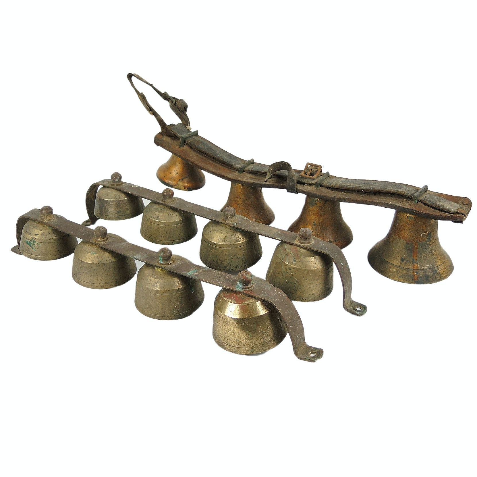 Copper Painted and Brass Shopkeeper's Bells and Sleigh Bells