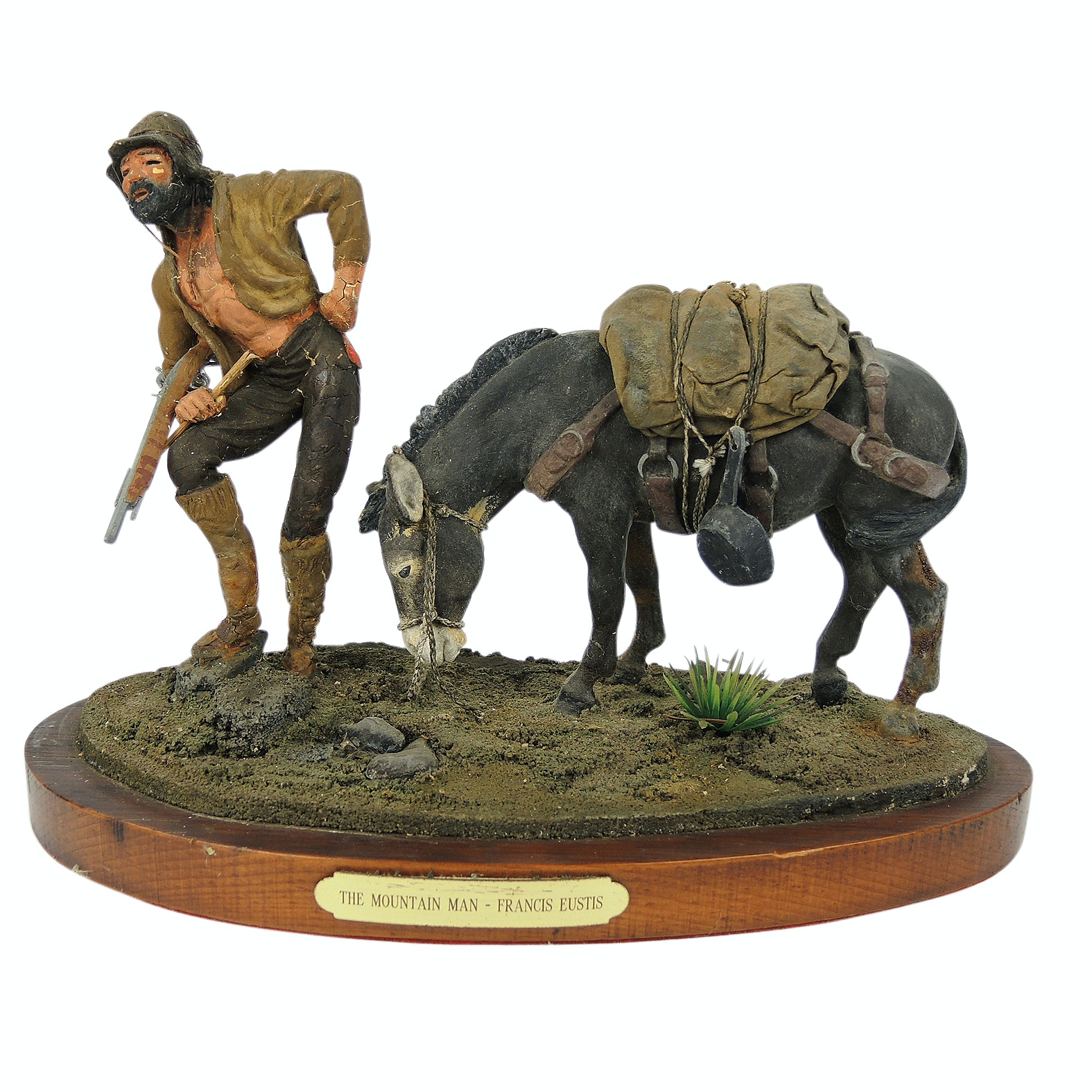 """Francis Eustis Hand Painted Sculpture """"The Mountain Man"""""""