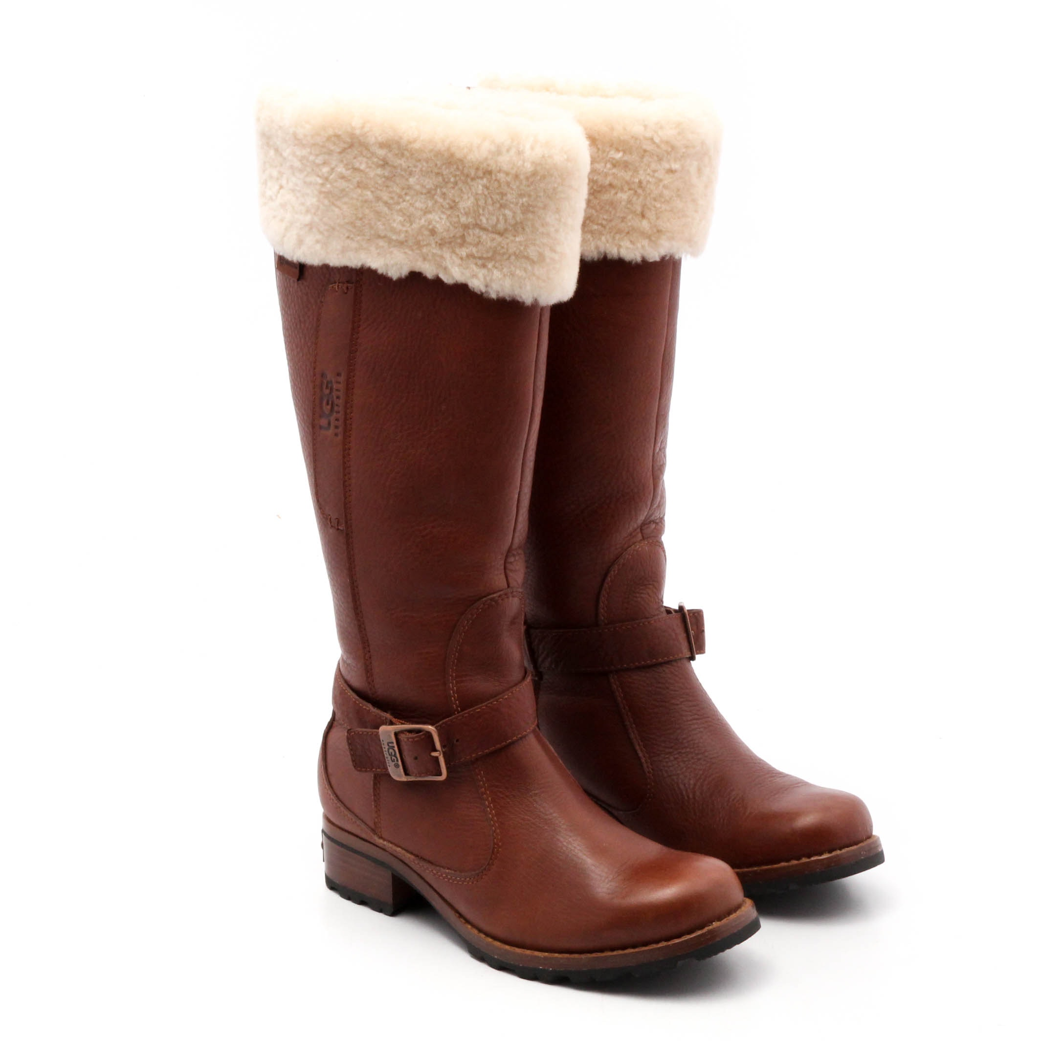 Women's UGG Australia Shearling Lined Pebbled Leather Boots