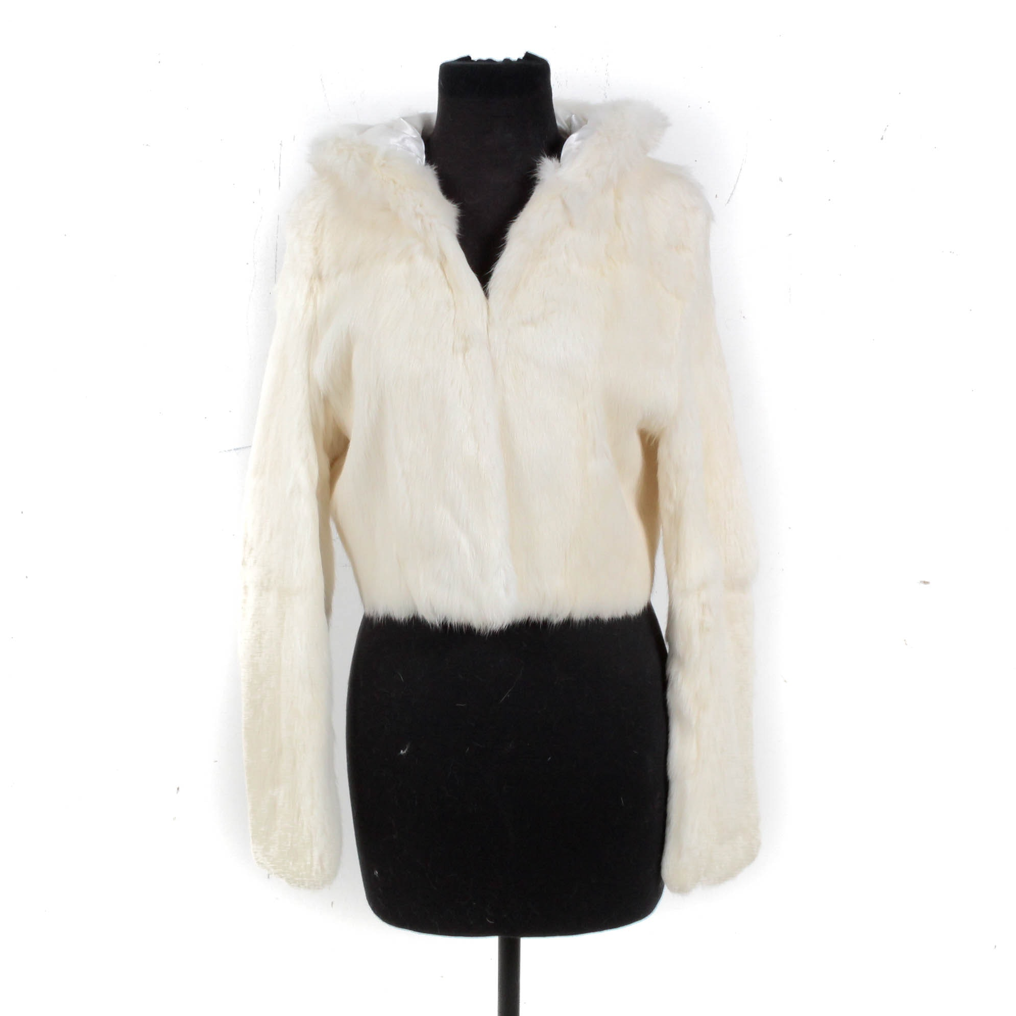 Bebe Rabbit Fur Hooded Jacket