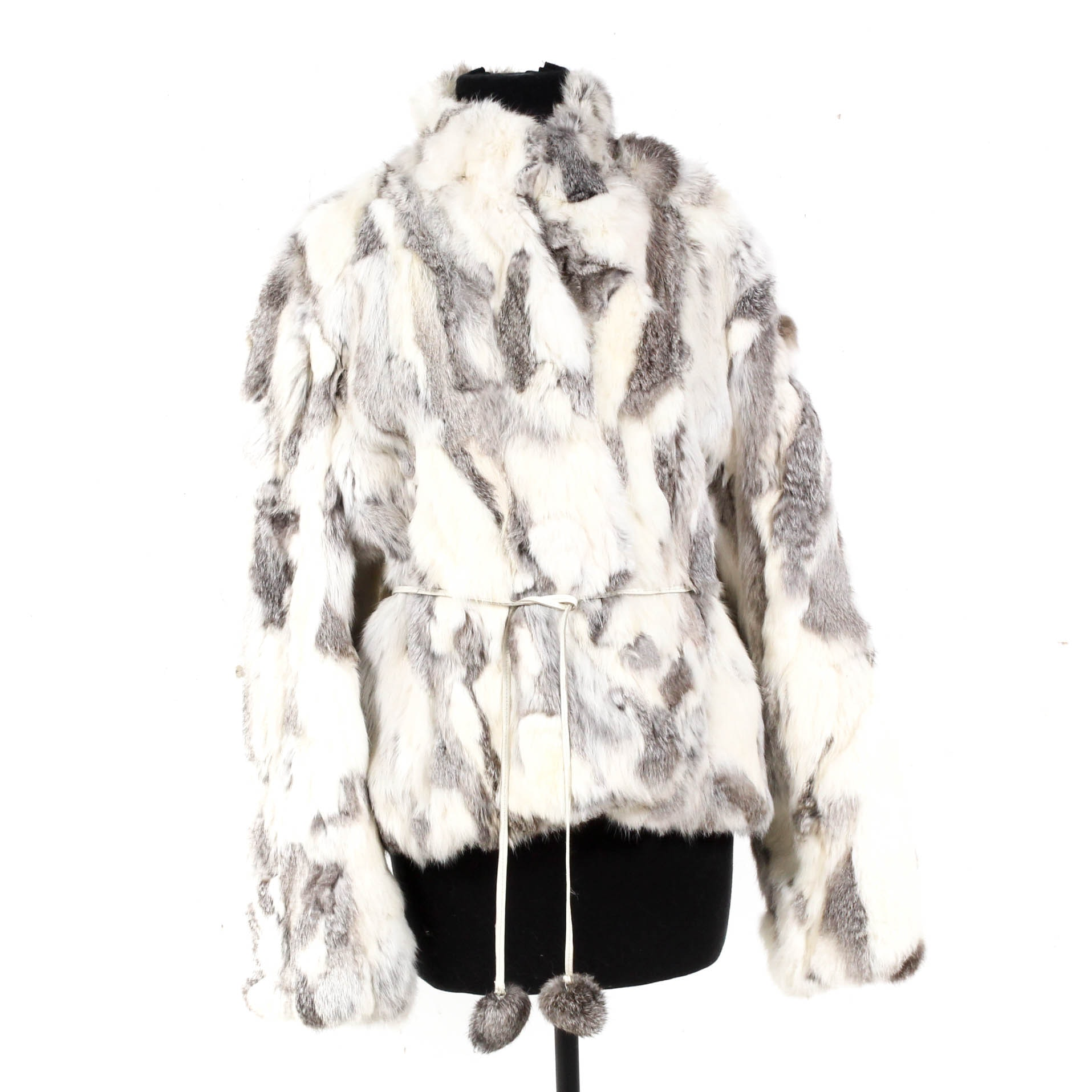 Raffaelo Leather Rabbit Fur Jacket