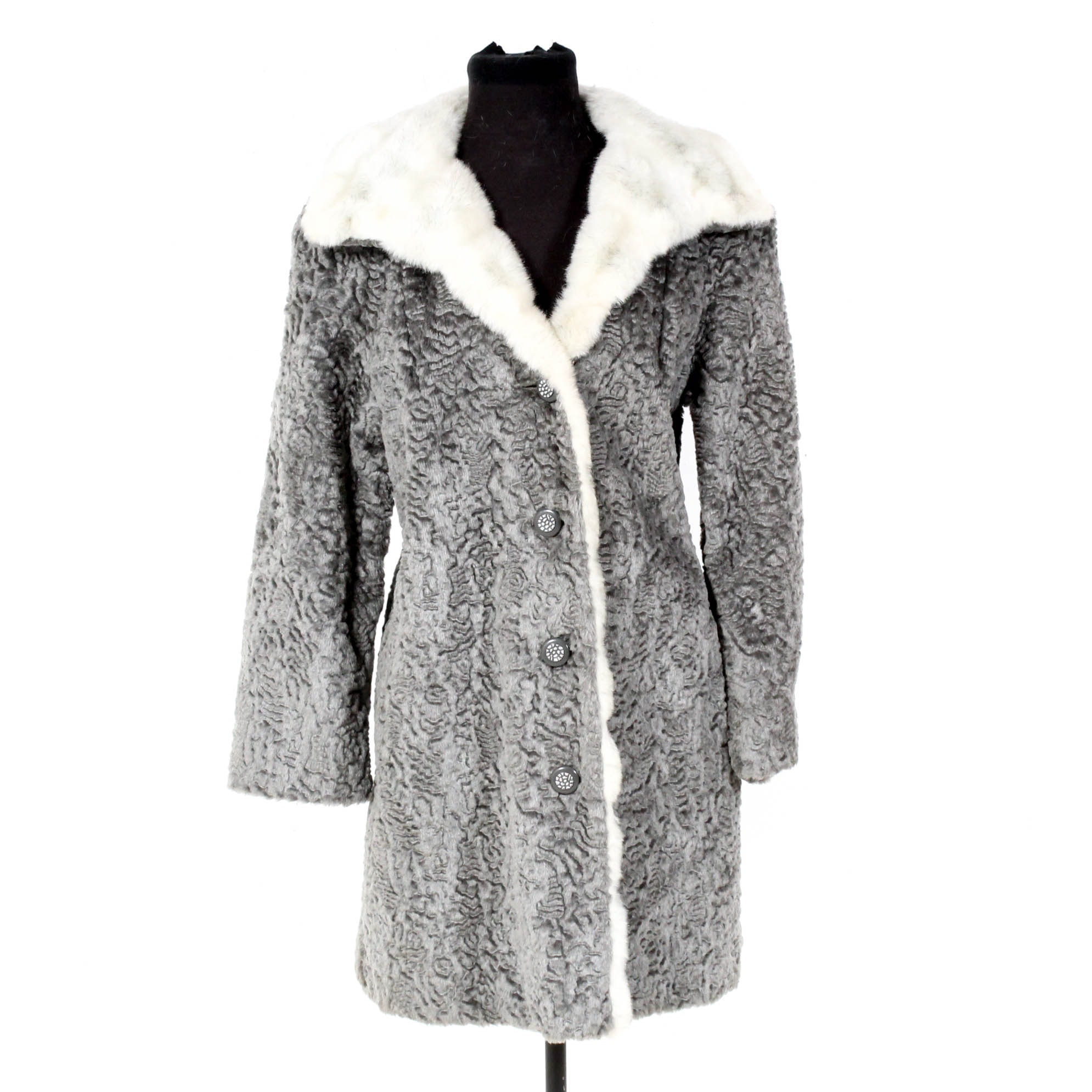 Vintage Faux Persian Lamb Fur Coat
